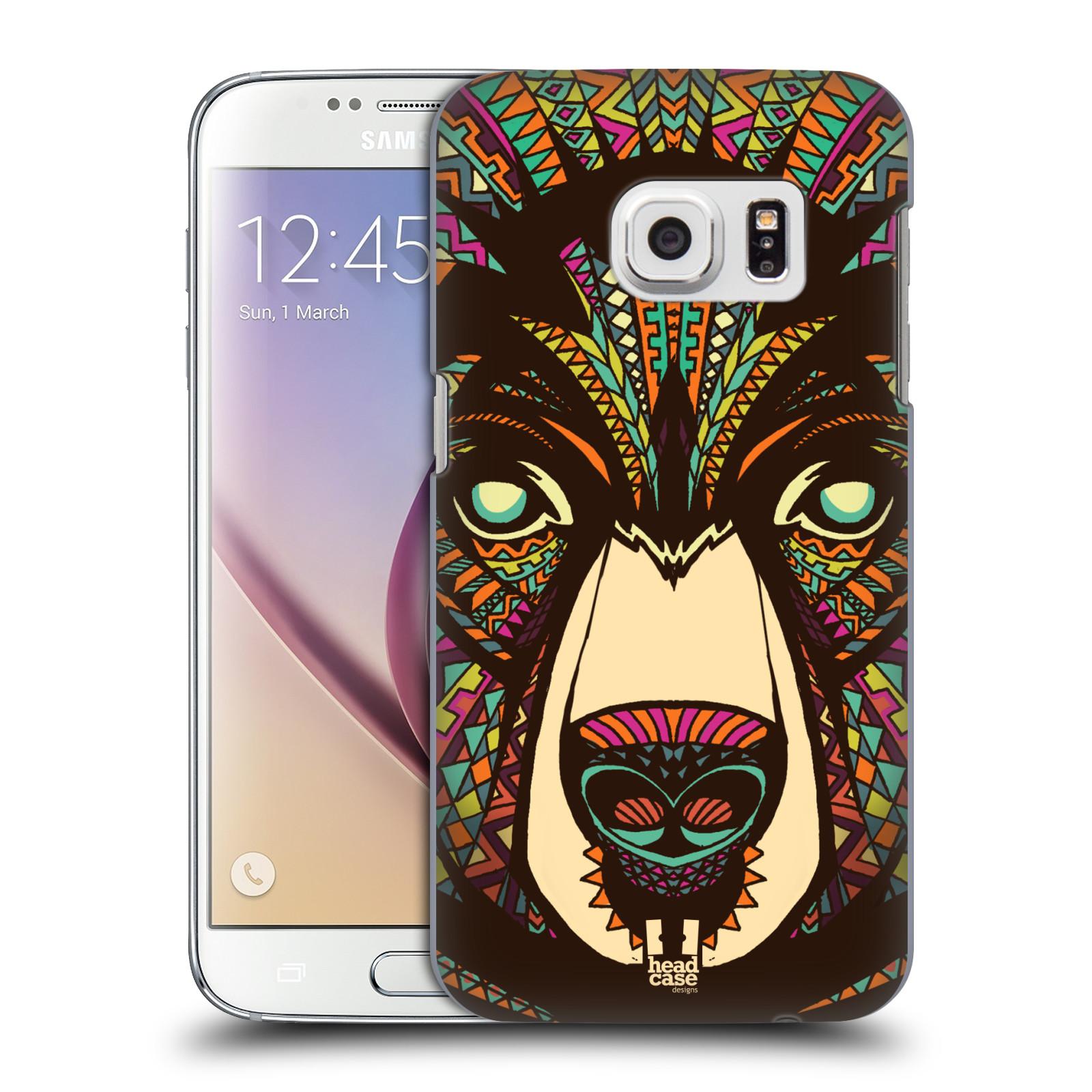 HEAD CASE plastový obal na mobil SAMSUNG GALAXY S7 vzor Aztécký motiv zvíře medvěd