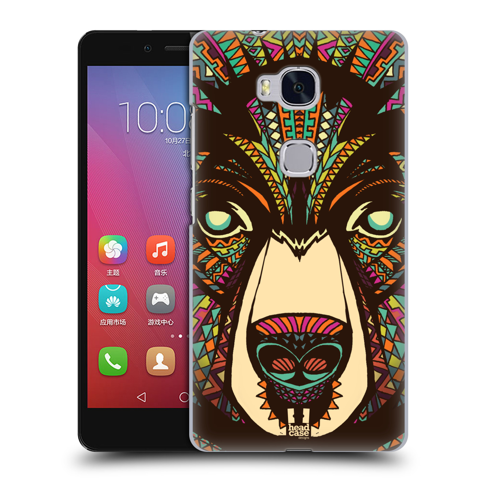 HEAD CASE pevný plastový obal na mobil HUAWEI HONOR 5X vzor Aztécký motiv zvíře medvěd