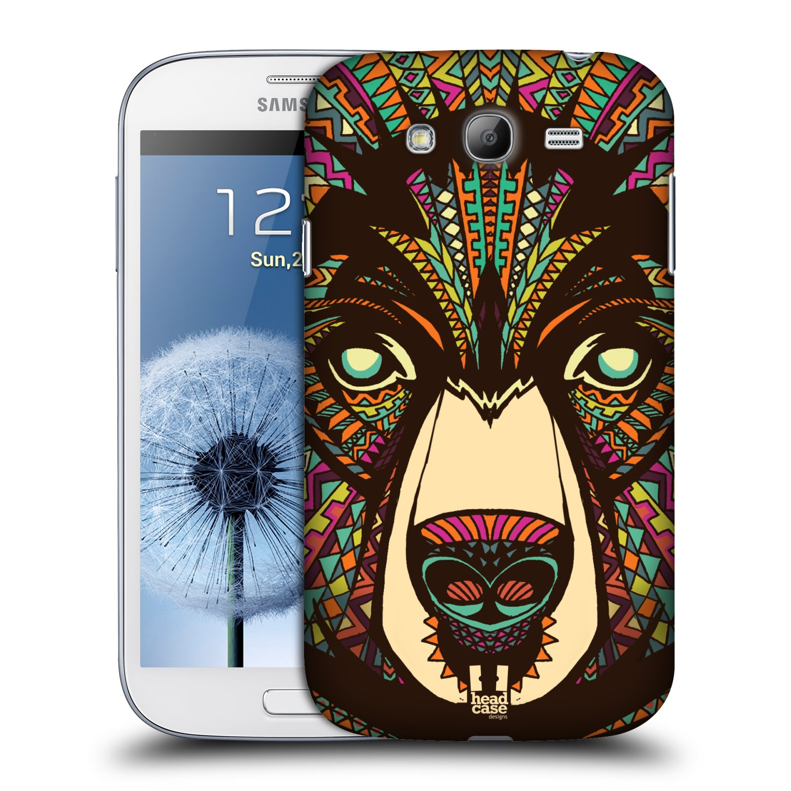 HEAD CASE plastový obal na mobil SAMSUNG GALAXY Grand i9080 vzor Aztécký motiv zvíře medvěd