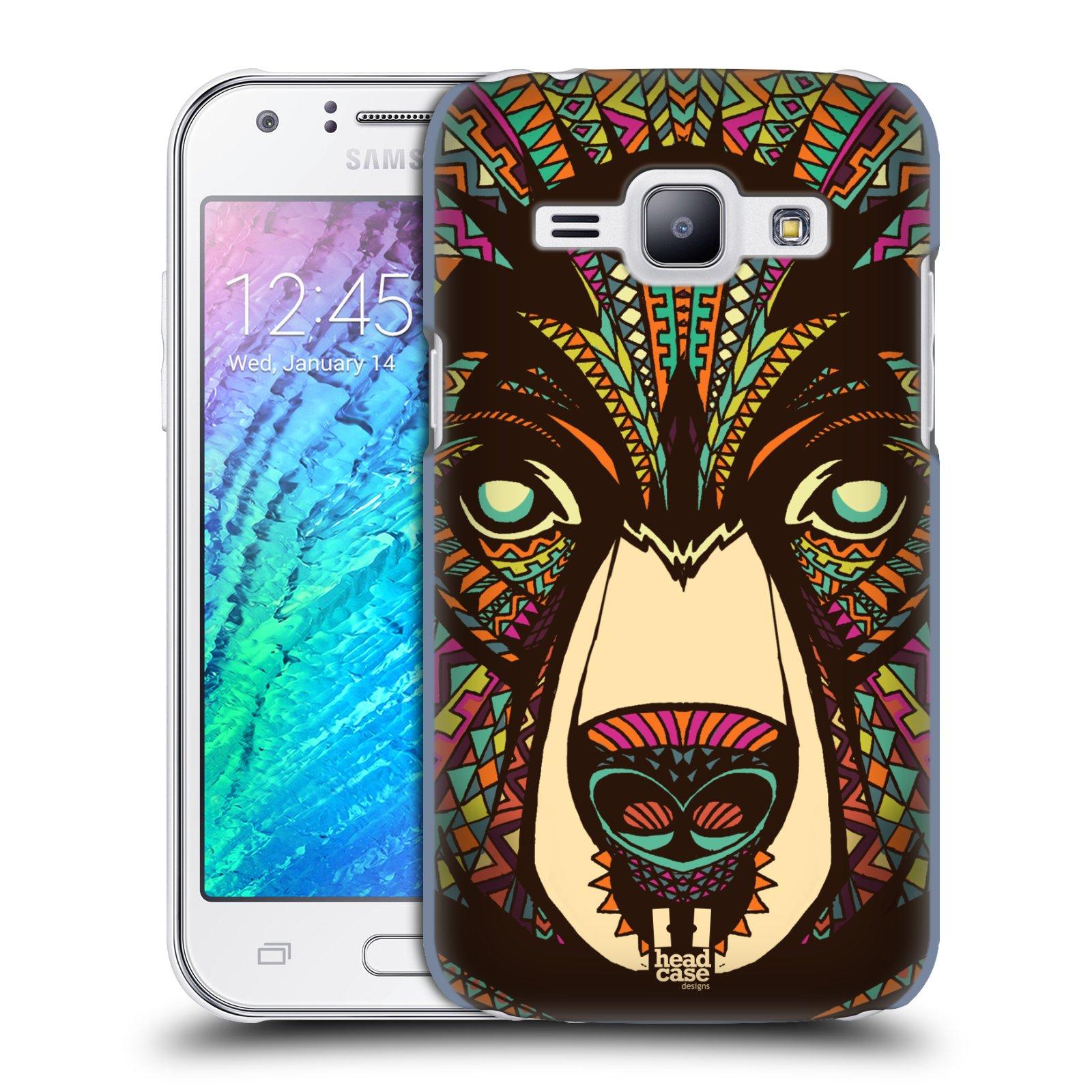 HEAD CASE plastový obal na mobil SAMSUNG Galaxy J1, J100 vzor Aztécký motiv zvíře medvěd
