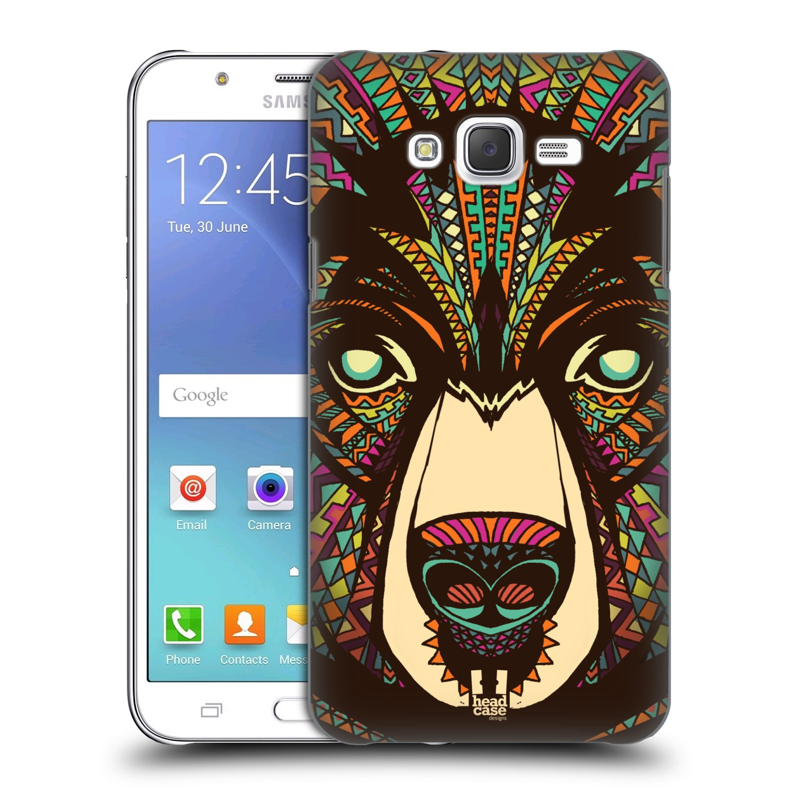 HEAD CASE plastový obal na mobil SAMSUNG Galaxy J7, J700 vzor Aztécký motiv zvíře medvěd