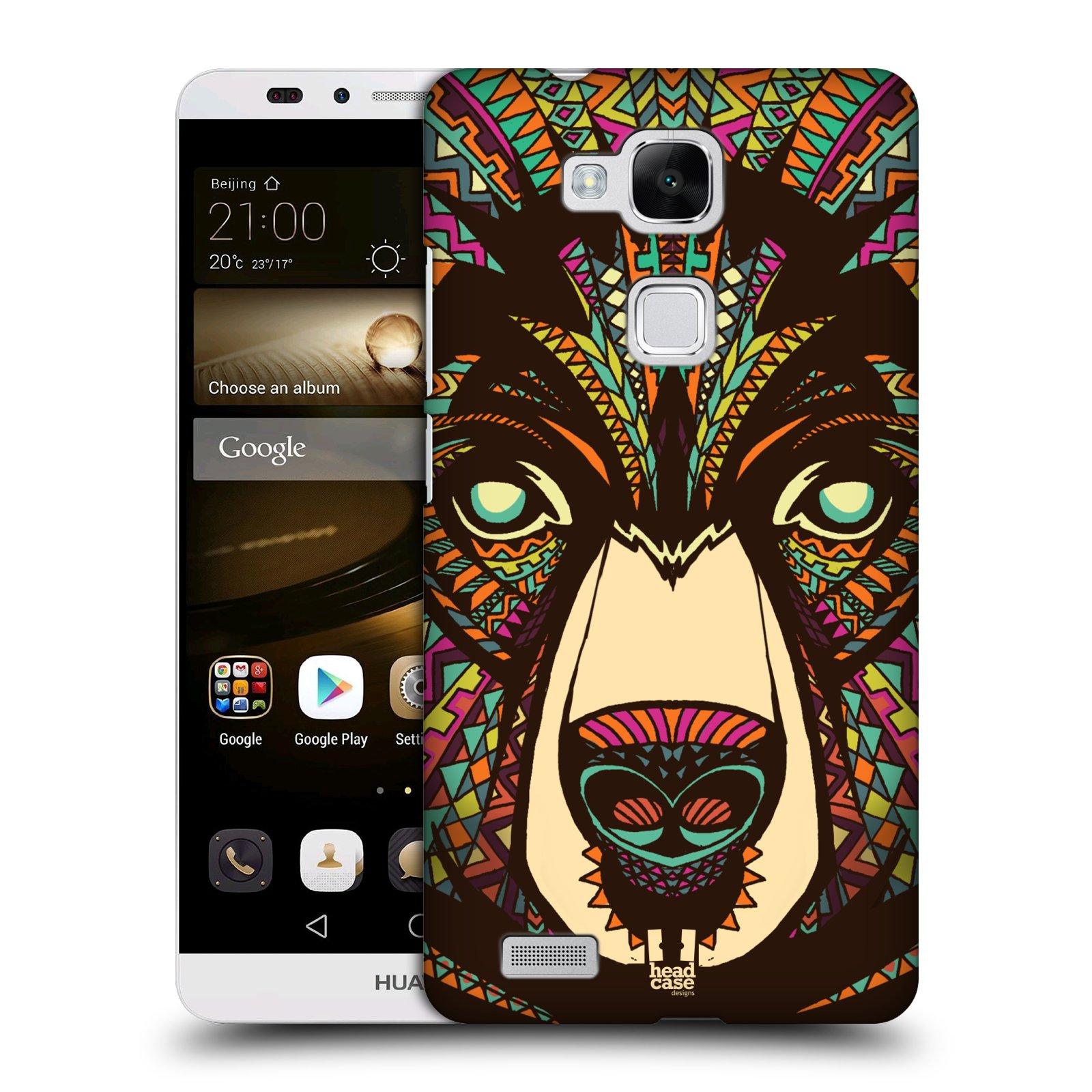 HEAD CASE plastový obal na mobil Huawei Mate 7 vzor Aztécký motiv zvíře medvěd