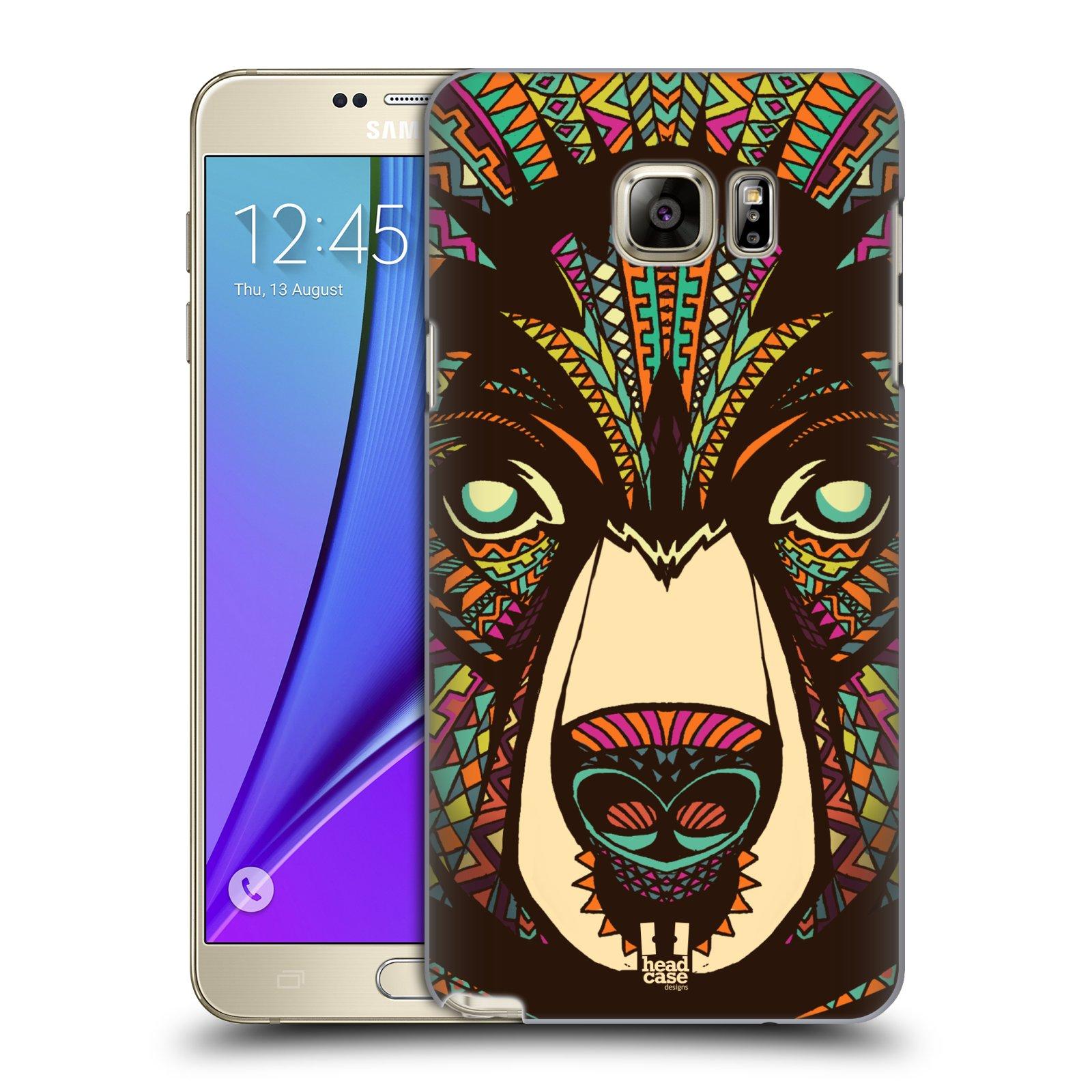 HEAD CASE plastový obal na mobil SAMSUNG Galaxy Note 5 (N920) vzor Aztécký motiv zvíře medvěd
