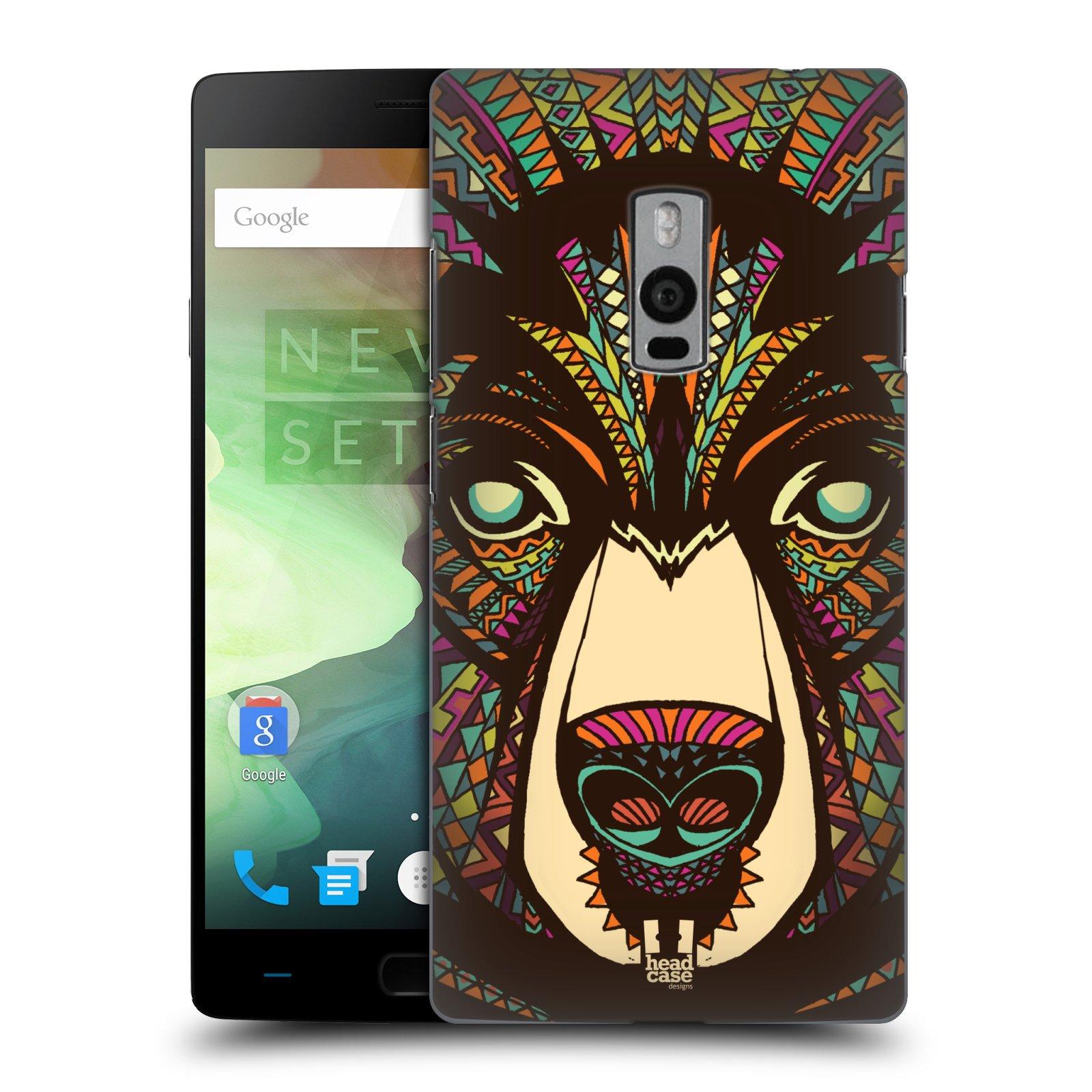 HEAD CASE pevný plastový obal na mobil OnePlus 2  ( TWO ) vzor Aztécký motiv zvíře medvěd