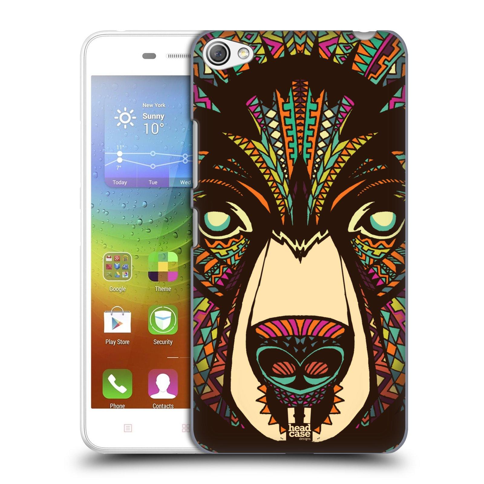 HEAD CASE pevný plastový obal na mobil LENOVO S60 / LENOVO S60 DUAL SIM vzor Aztécký motiv zvíře medvěd