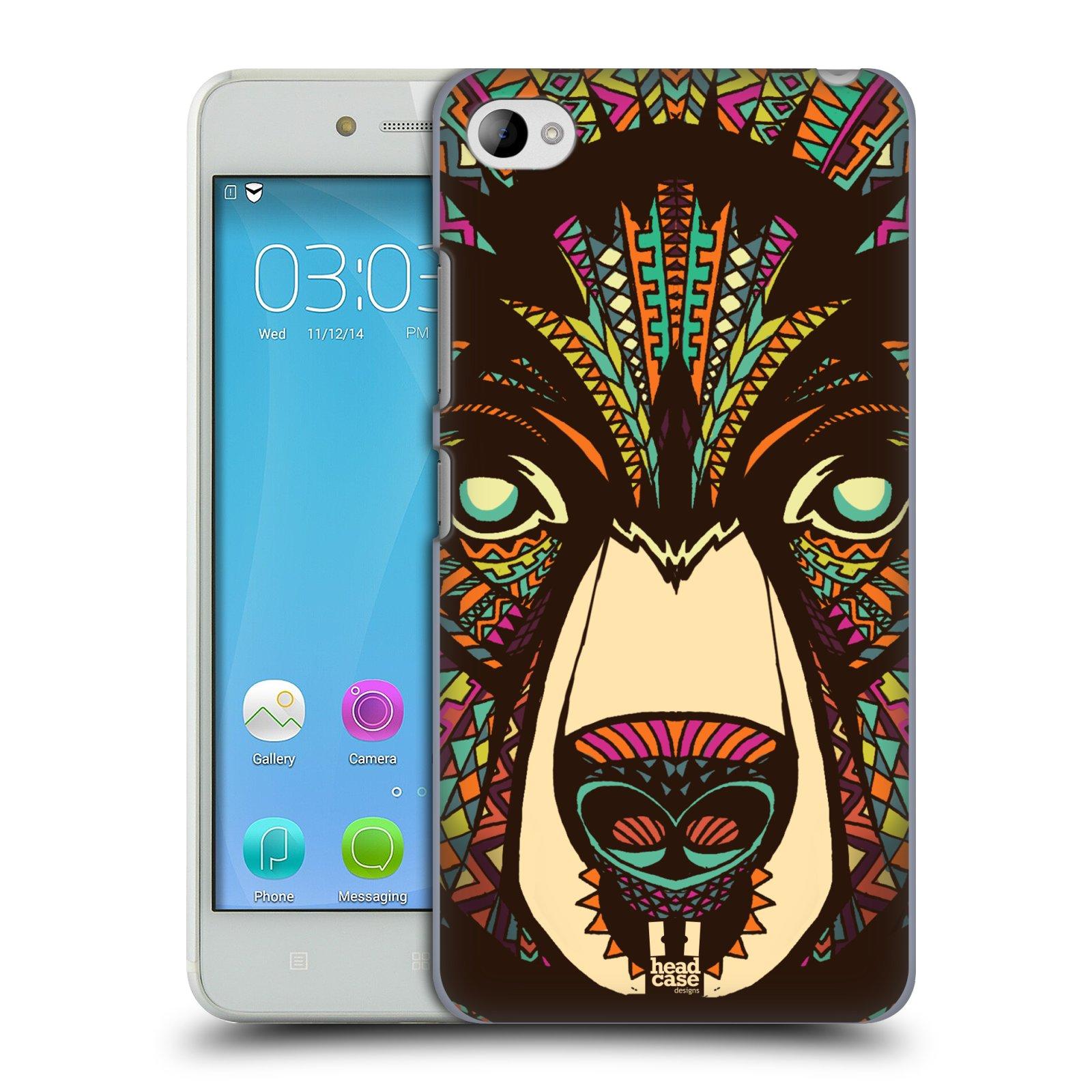 HEAD CASE pevný plastový obal na mobil LENOVO S90 vzor Aztécký motiv zvíře medvěd