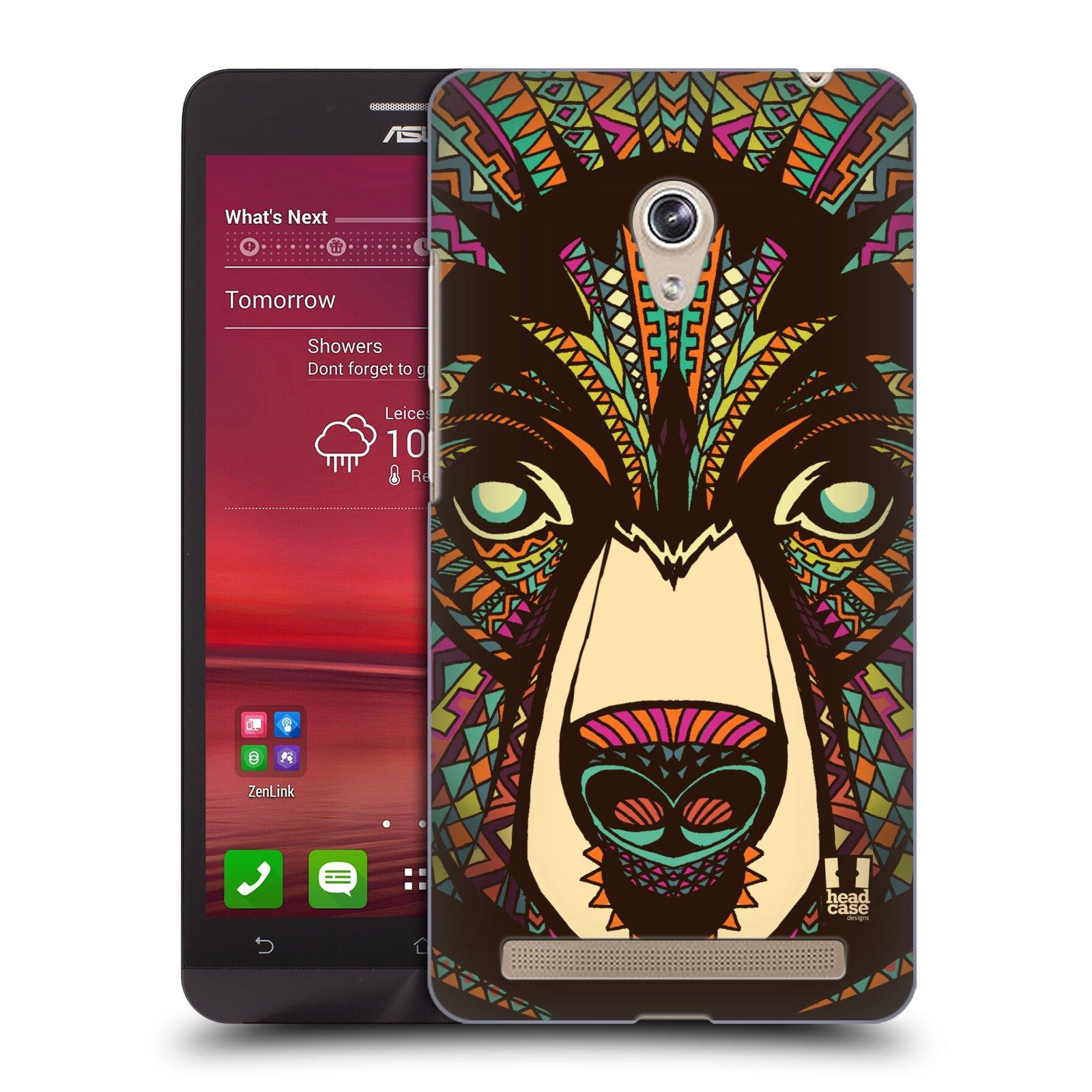 HEAD CASE plastový obal na mobil Asus Zenfone 6 vzor Aztécký motiv zvíře medvěd