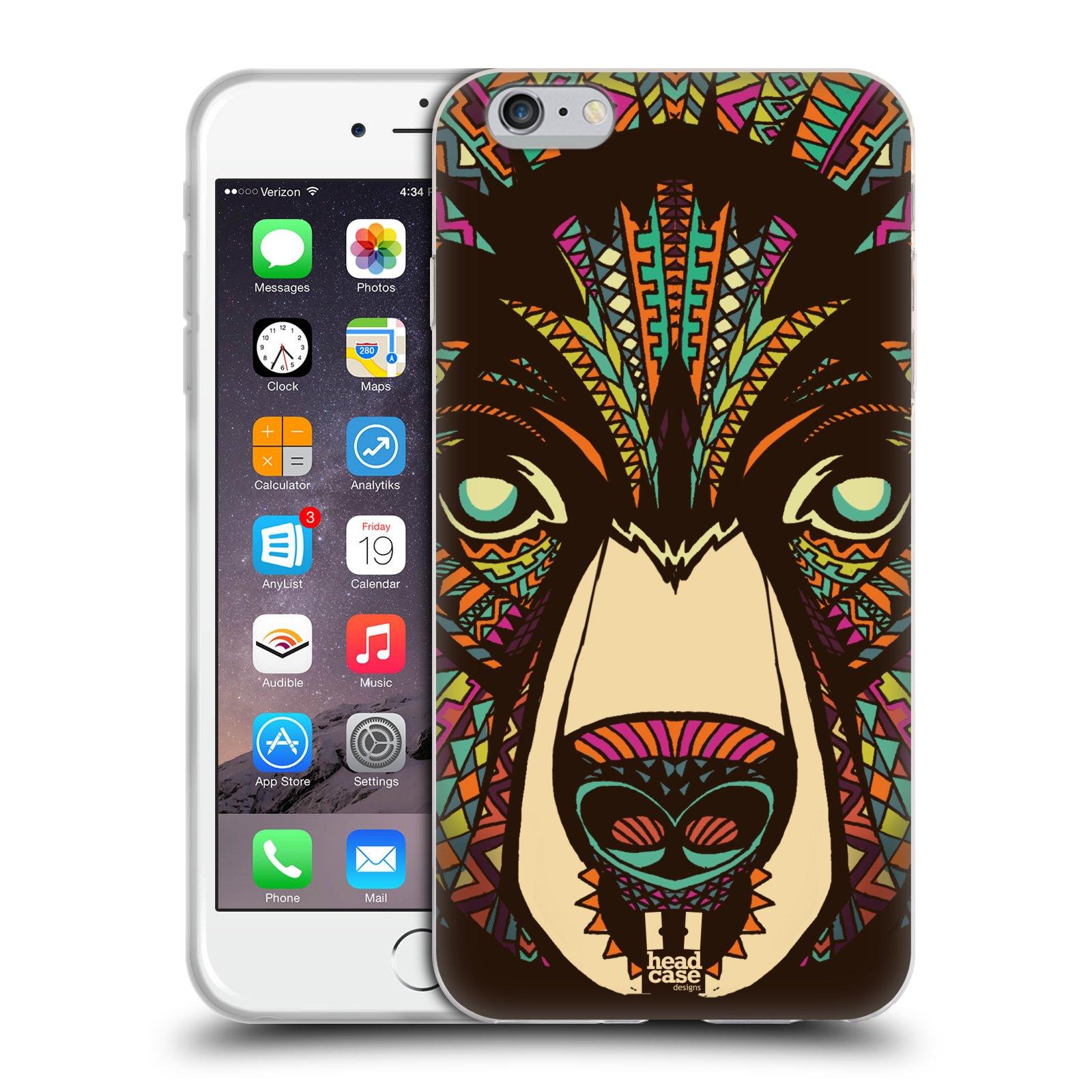 HEAD CASE silikonový obal na mobil Apple Iphone 6 PLUS/ 6S PLUS vzor Aztécký motiv zvíře medvěd