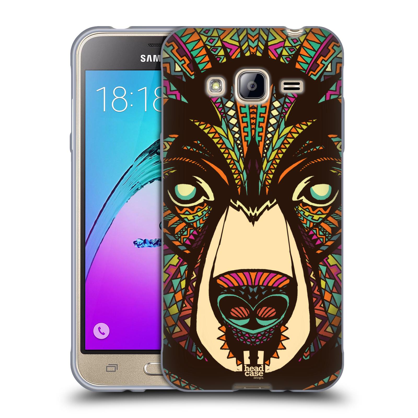 HEAD CASE silikonový obal na mobil Samsung Galaxy J3, J3 2016 vzor Aztécký motiv zvíře medvěd