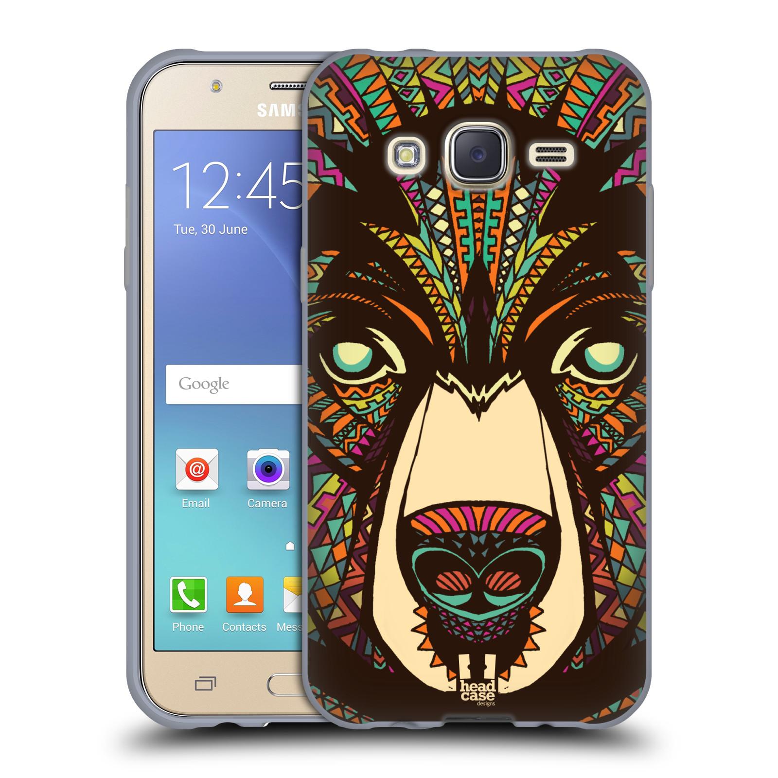 HEAD CASE silikonový obal na mobil Samsung Galaxy J5, J500, (J5 DUOS) vzor Aztécký motiv zvíře medvěd