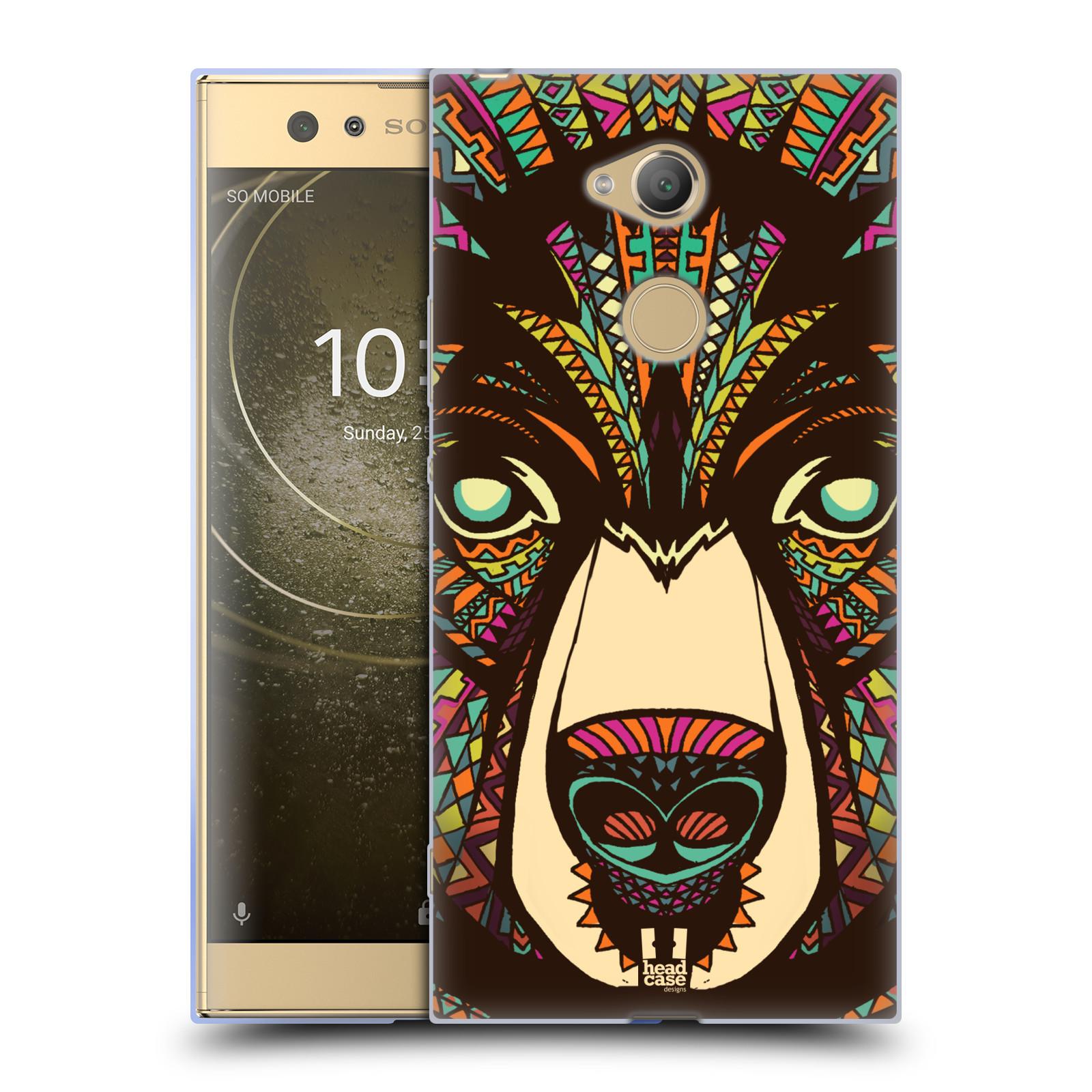 Pouzdro na mobil Sony Xperia XA2 Ultra vzor Aztécký motiv zvíře medvěd