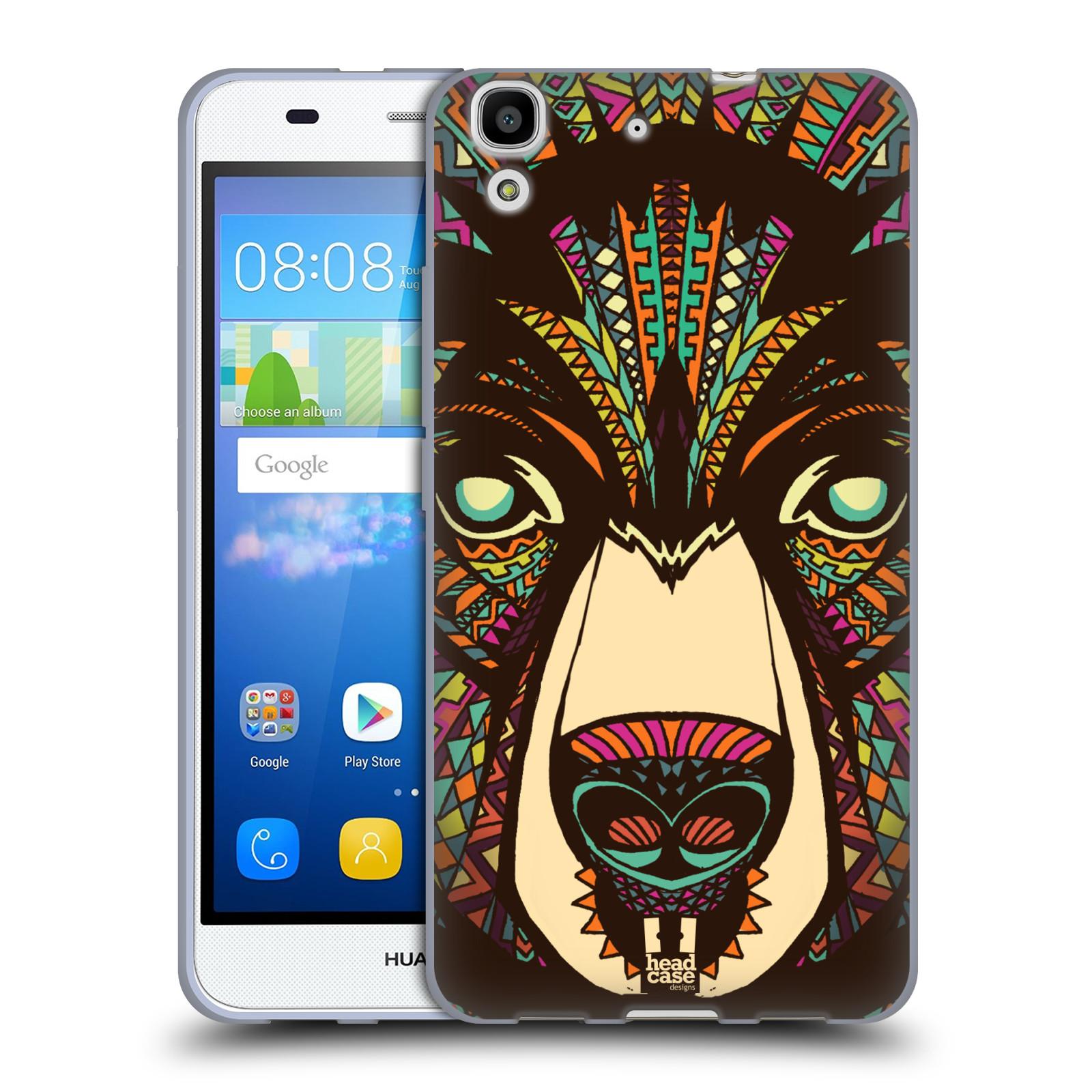 HEAD CASE silikonový obal na mobil HUAWEI Y6 vzor Aztécký motiv zvíře medvěd