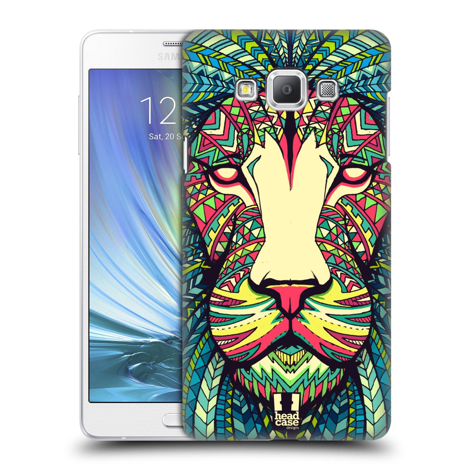 HEAD CASE plastový obal na mobil SAMSUNG GALAXY A7 vzor Aztécký motiv zvíře lev