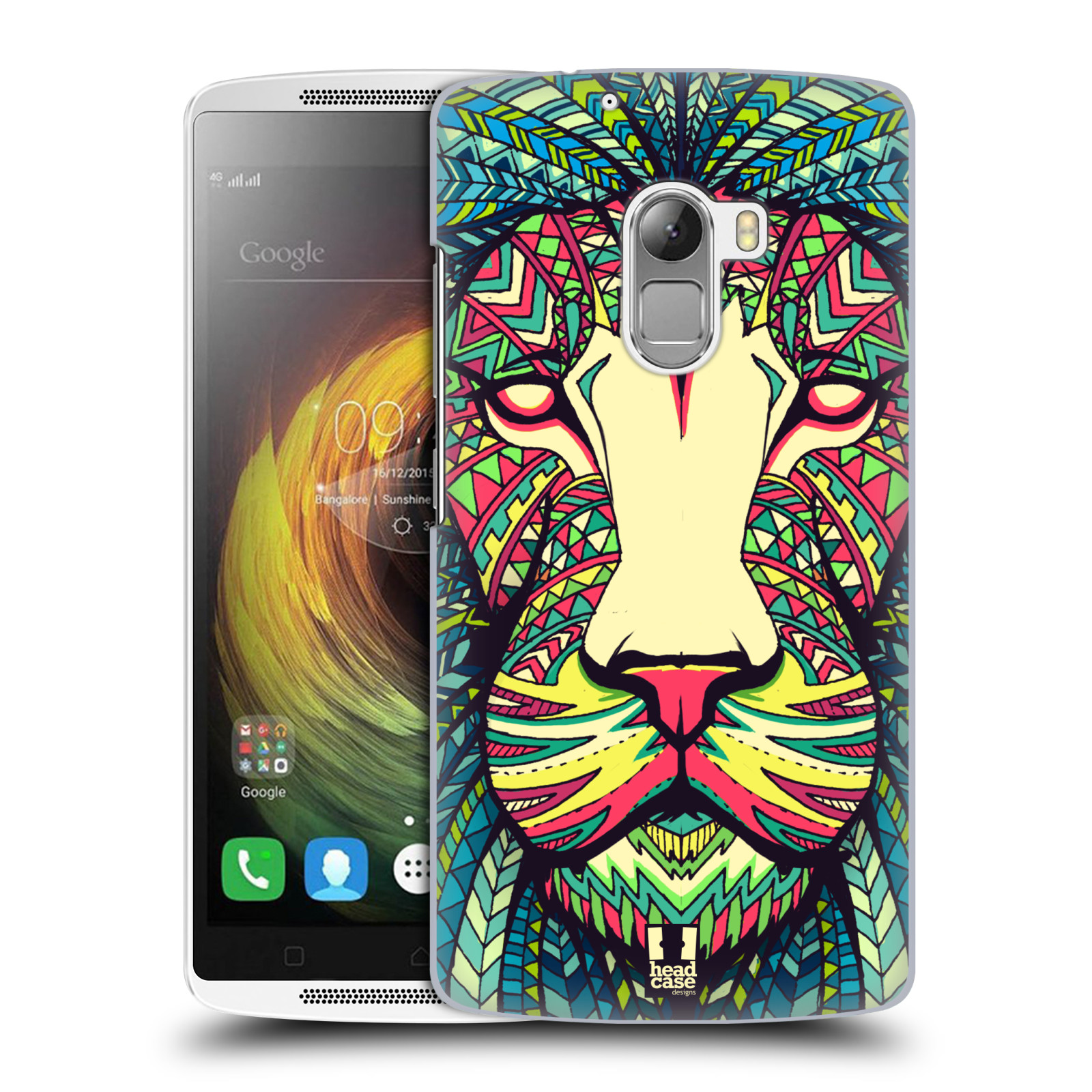 HEAD CASE pevný plastový obal na mobil LENOVO A7010 / A7010 DUAL / K4 Note / Vibe X3 lite vzor Aztécký motiv zvíře lev