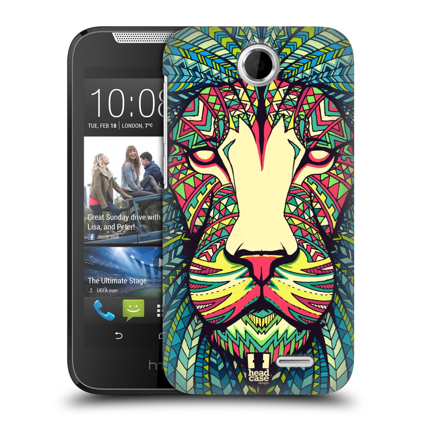 HEAD CASE plastový obal na mobil HTC Desire 310 vzor Aztécký motiv zvíře lev