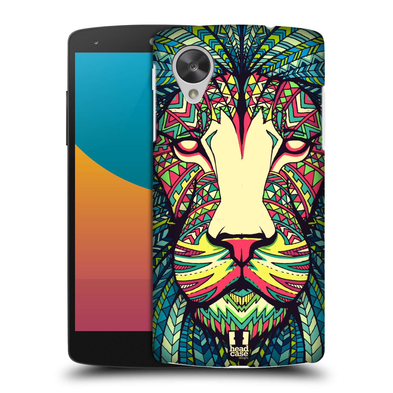 HEAD CASE AZTEC ANIMAL FACES SNAP-ON BACK CASE COVER FOR LG GOOGLE NEXUS 5 D821