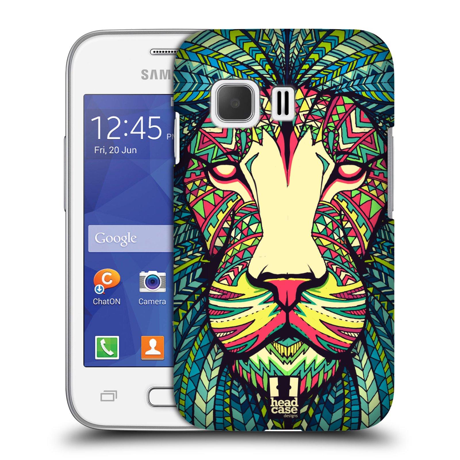 HEAD CASE plastový obal na mobil SAMSUNG Galaxy Young 2 (G130) vzor Aztécký motiv zvíře lev