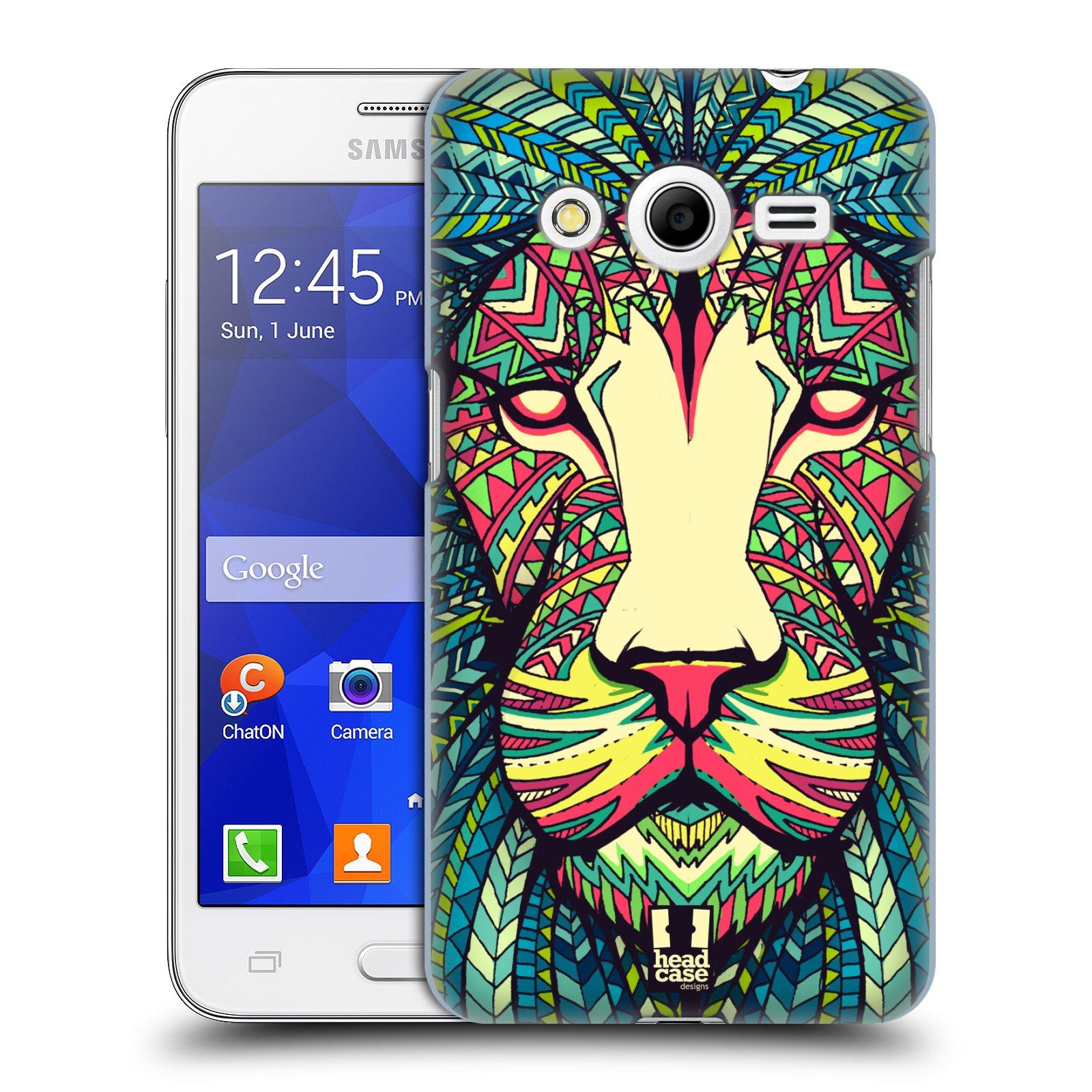HEAD CASE plastový obal na mobil SAMSUNG GALAXY Core 2 (G355H) vzor Aztécký motiv zvíře lev