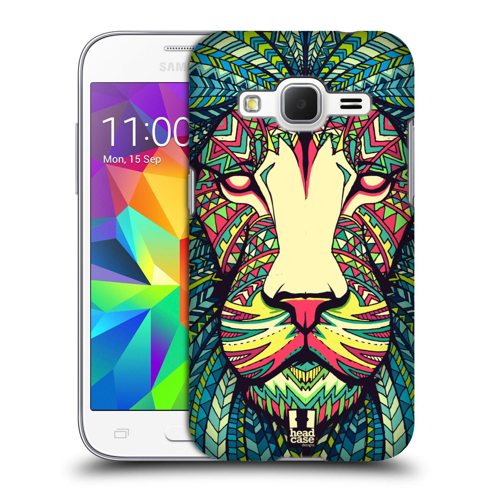 HEAD CASE plastový obal na mobil SAMSUNG GALAXY Core Prime (Core Prime VE) vzor Aztécký motiv zvíře lev