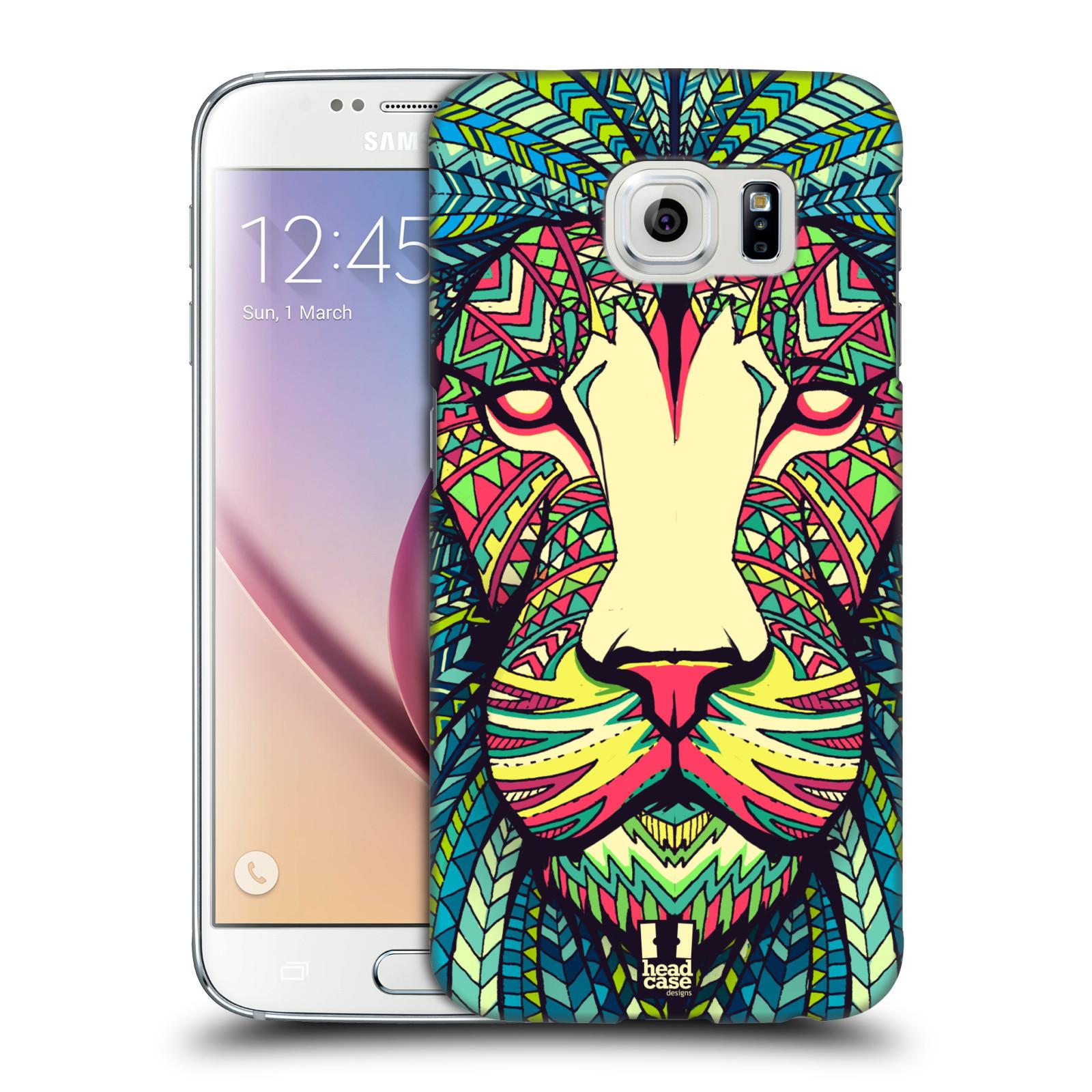 HEAD CASE plastový obal na mobil SAMSUNG Galaxy S6 (G9200, G920F) vzor Aztécký motiv zvíře lev