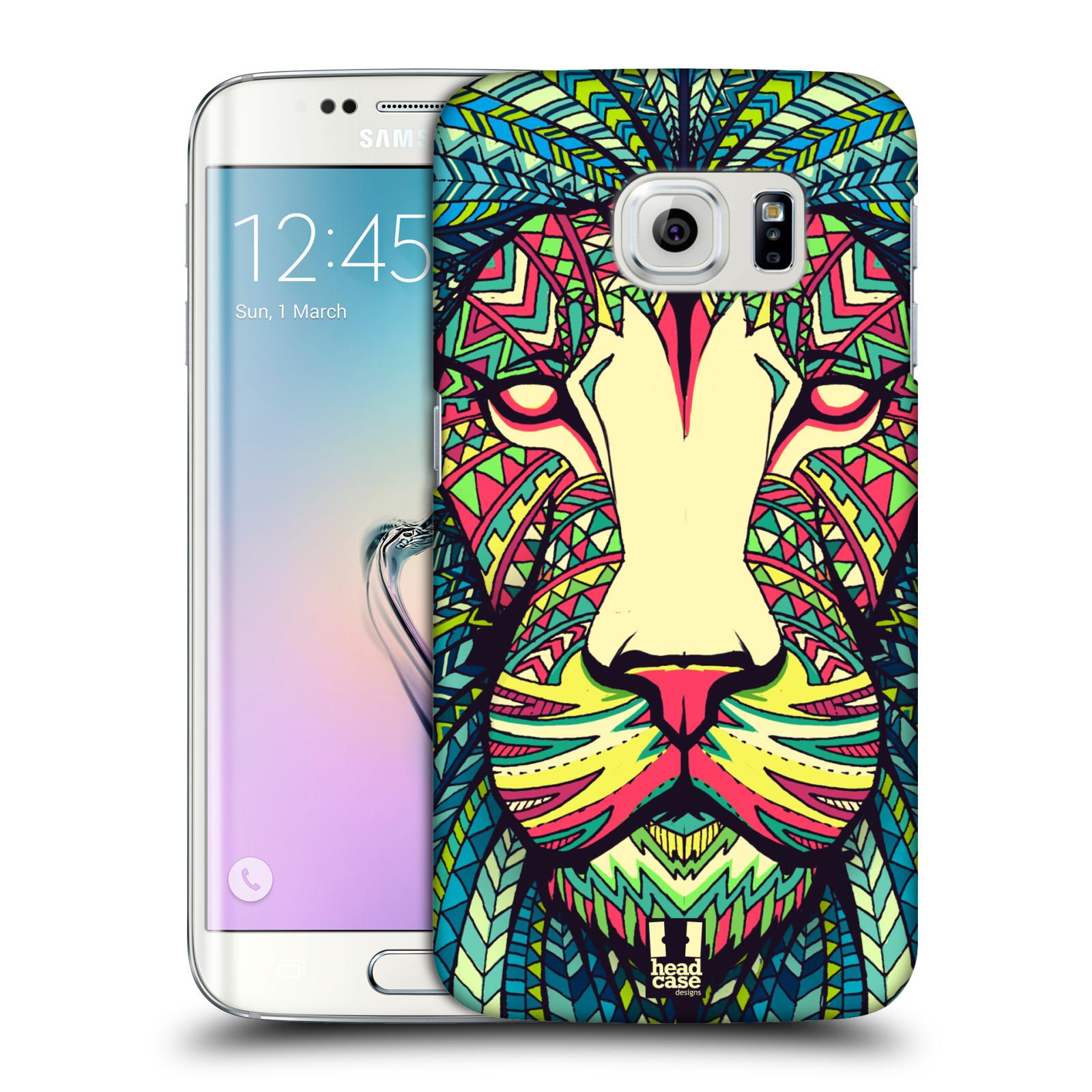 HEAD CASE plastový obal na mobil SAMSUNG Galaxy S6 EDGE (G9250, G925, G925F) vzor Aztécký motiv zvíře lev