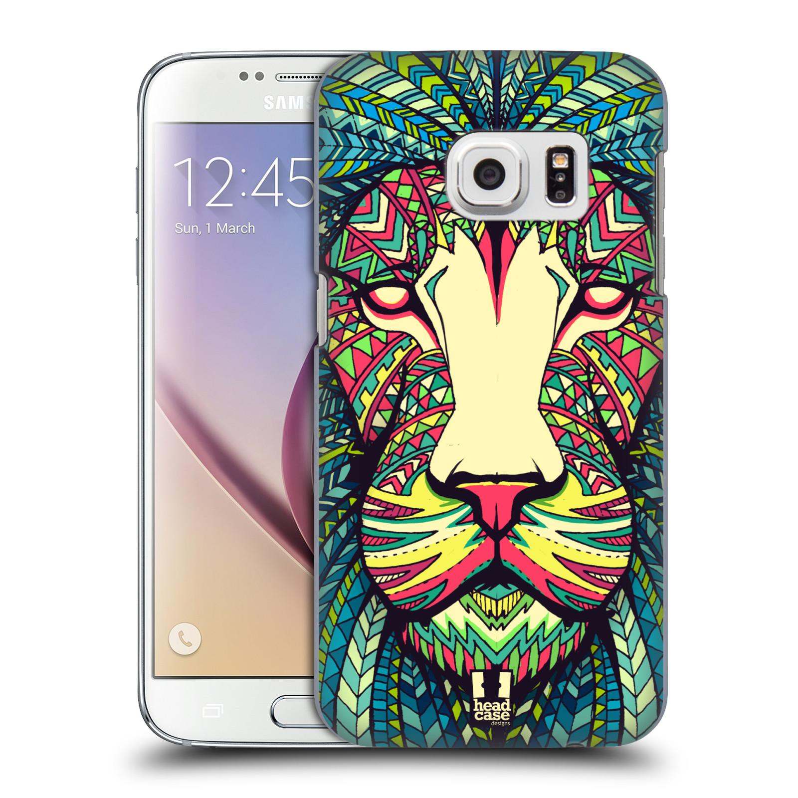 HEAD CASE plastový obal na mobil SAMSUNG GALAXY S7 vzor Aztécký motiv zvíře lev