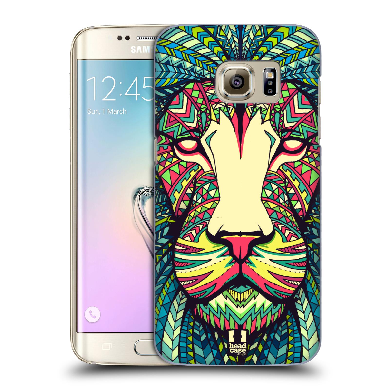 HEAD CASE plastový obal na mobil SAMSUNG GALAXY S7 EDGE vzor Aztécký motiv zvíře lev