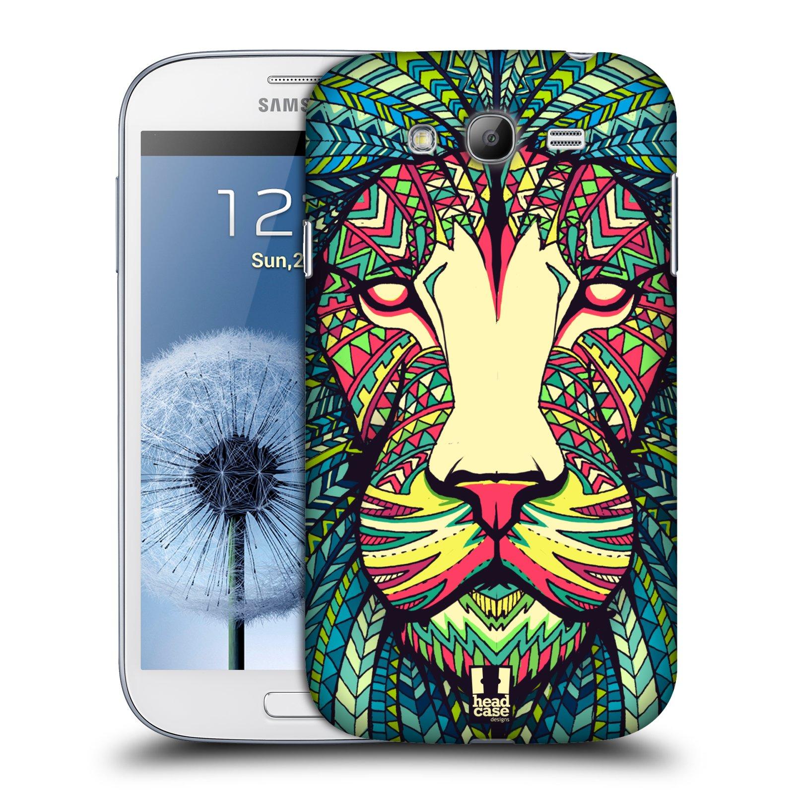 HEAD CASE plastový obal na mobil SAMSUNG GALAXY Grand i9080 vzor Aztécký motiv zvíře lev
