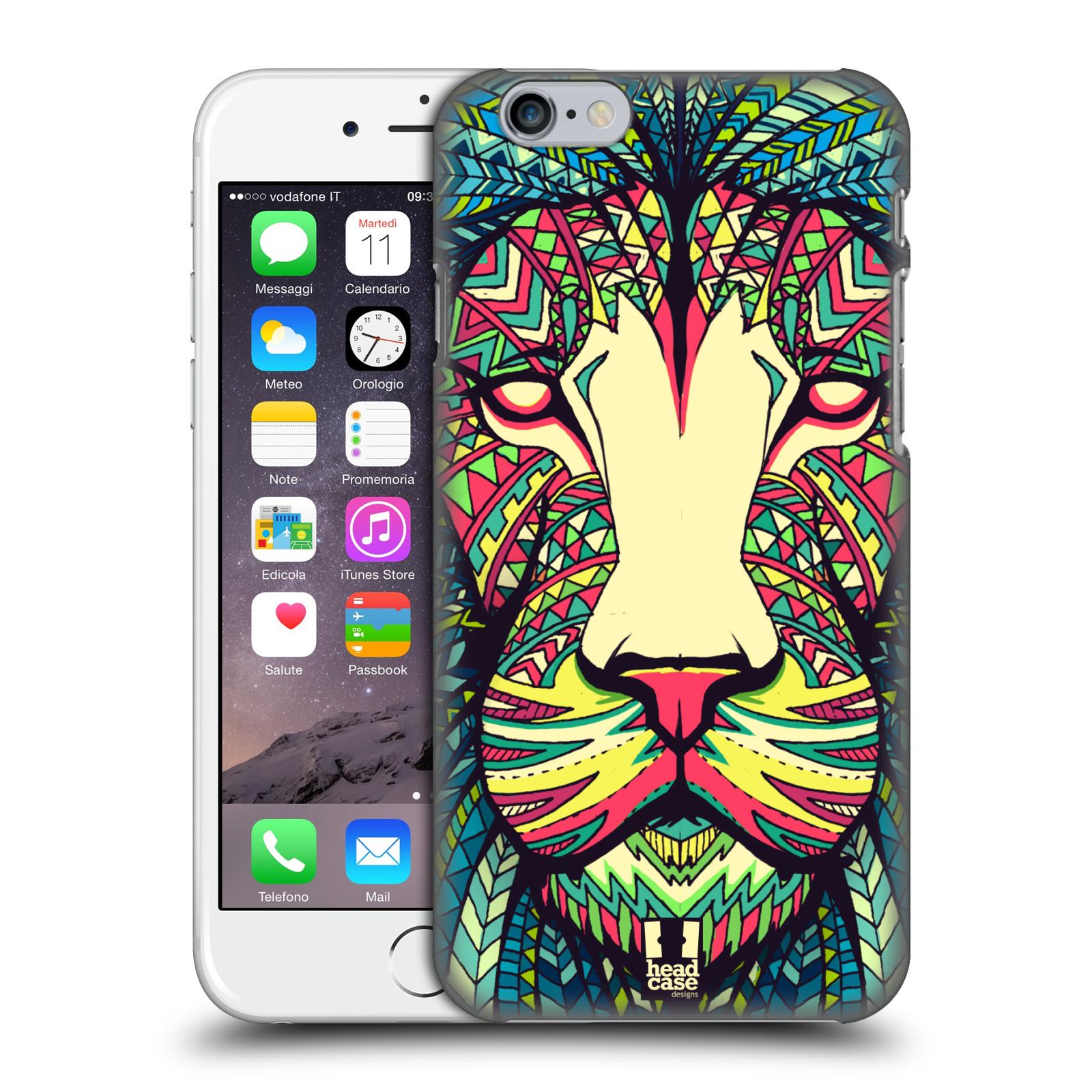Plastové pouzdro pro mobil Apple Iphone 6/6S vzor Aztécký motiv zvíře lev