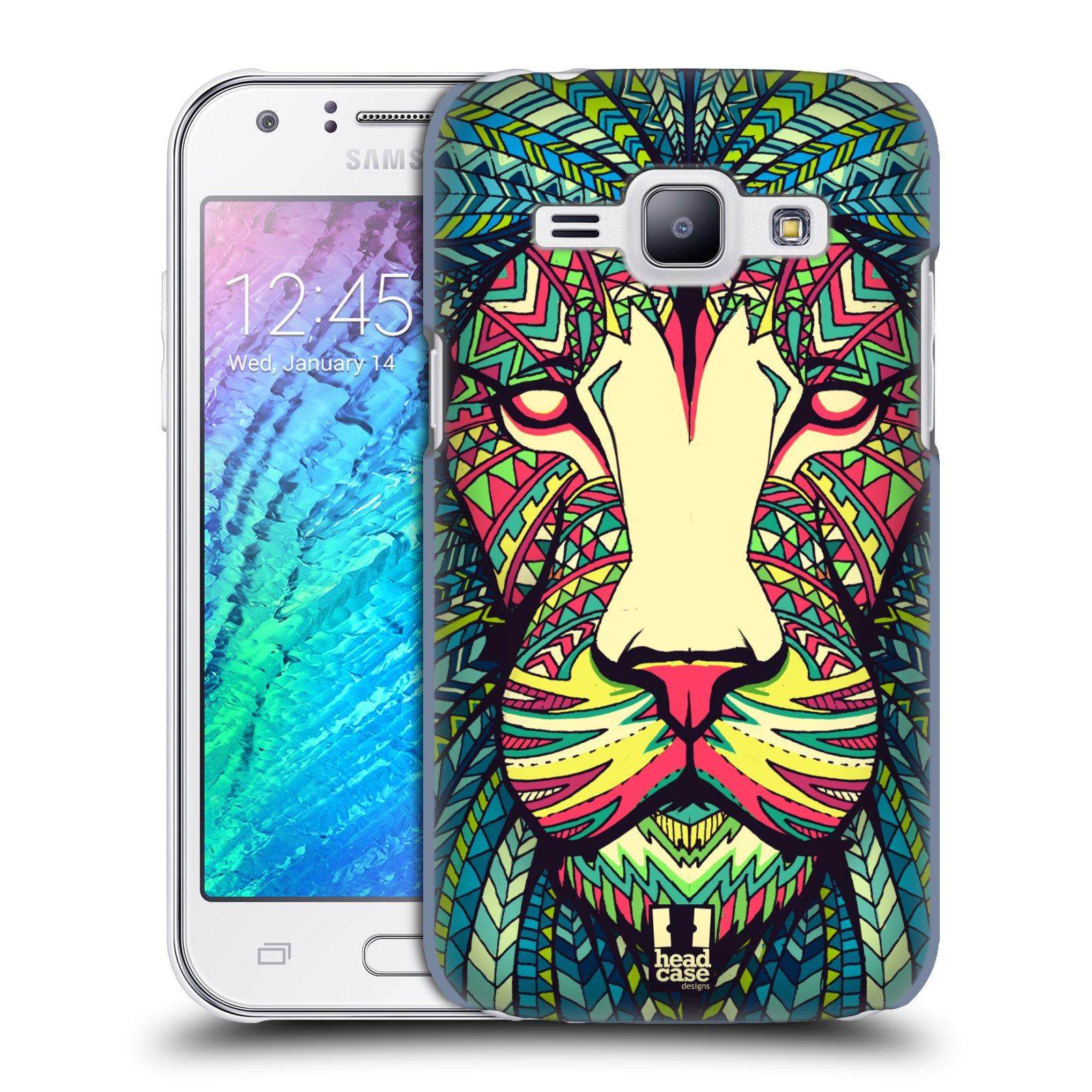 HEAD CASE plastový obal na mobil SAMSUNG Galaxy J1, J100 vzor Aztécký motiv zvíře lev