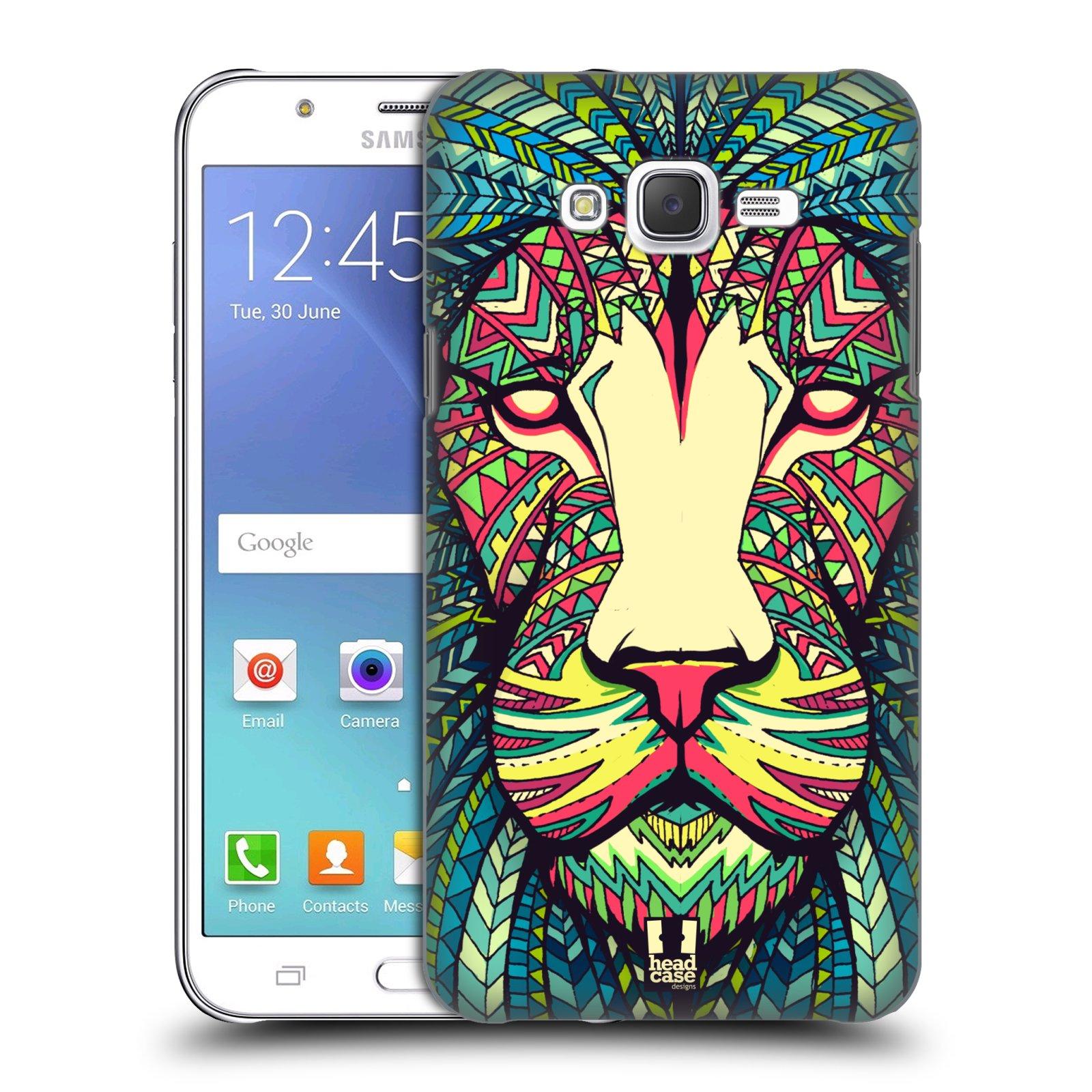 HEAD CASE plastový obal na mobil SAMSUNG Galaxy J7, J700 vzor Aztécký motiv zvíře lev