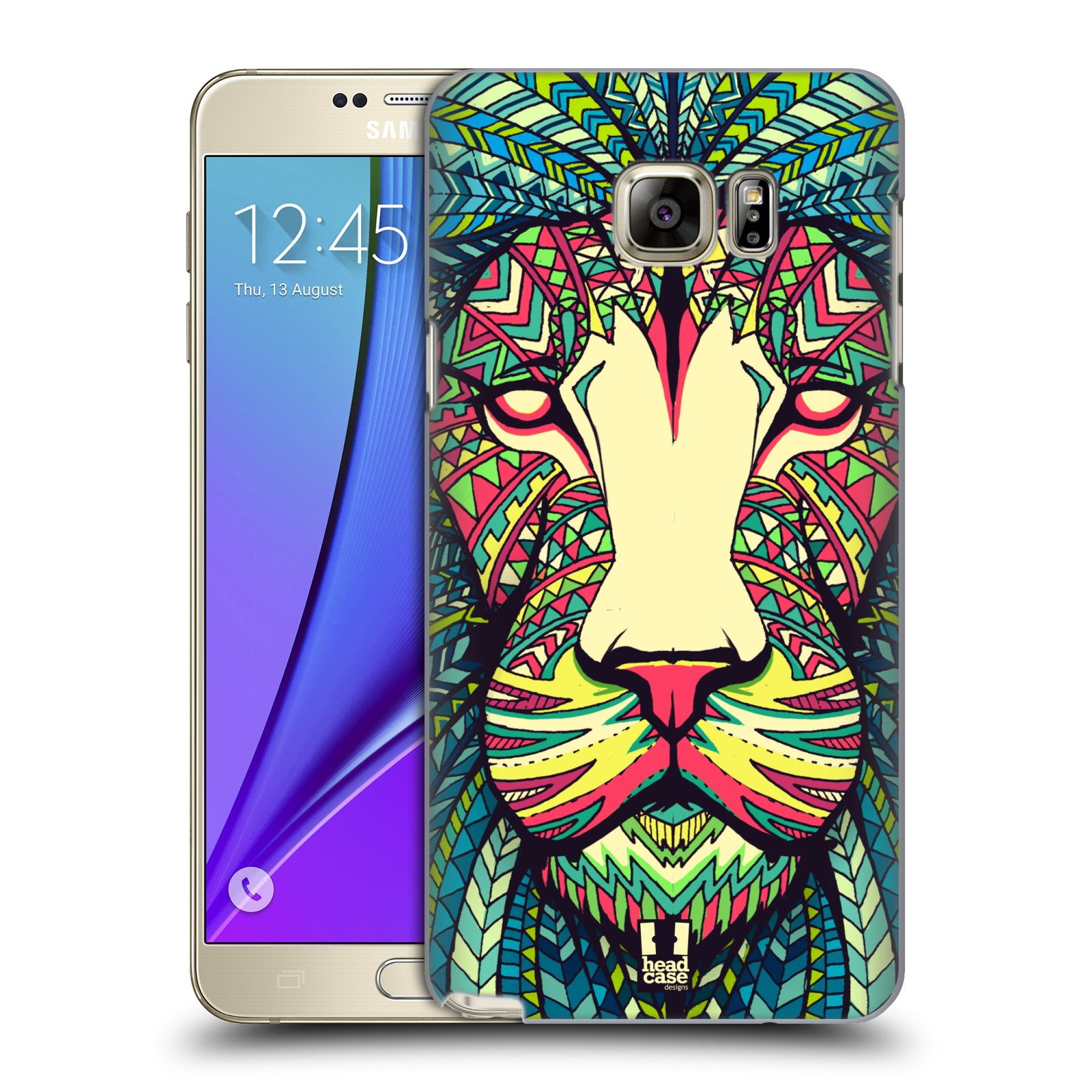 HEAD CASE plastový obal na mobil SAMSUNG Galaxy Note 5 (N920) vzor Aztécký motiv zvíře lev