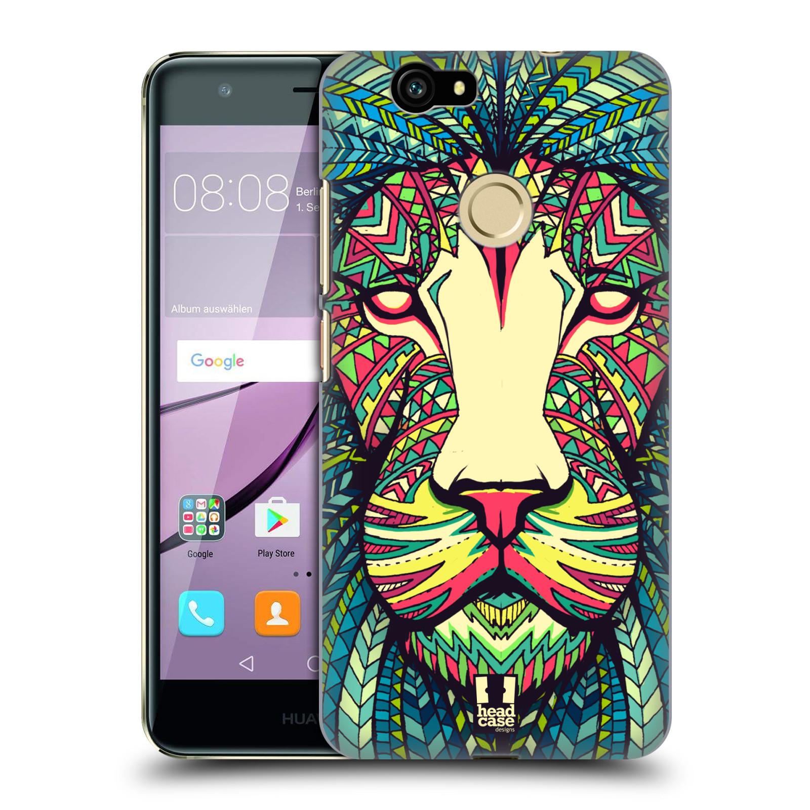 HEAD CASE silikonový obal na mobil Huawei NOVA / NOVA DUAL SIM vzor Aztécký motiv zvíře lev