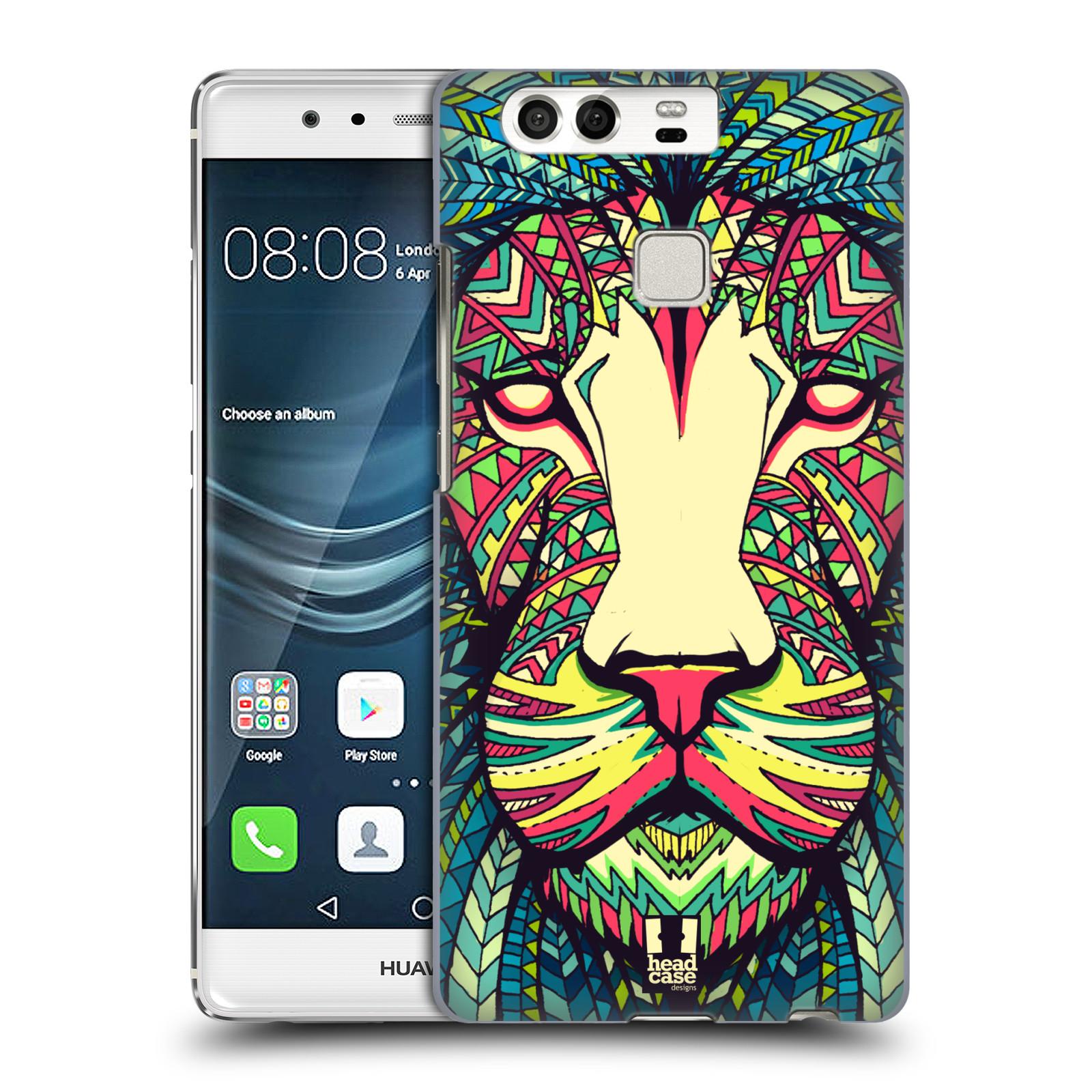 HEAD CASE plastový obal na mobil Huawei P9 / P9 DUAL SIM vzor Aztécký motiv zvíře lev