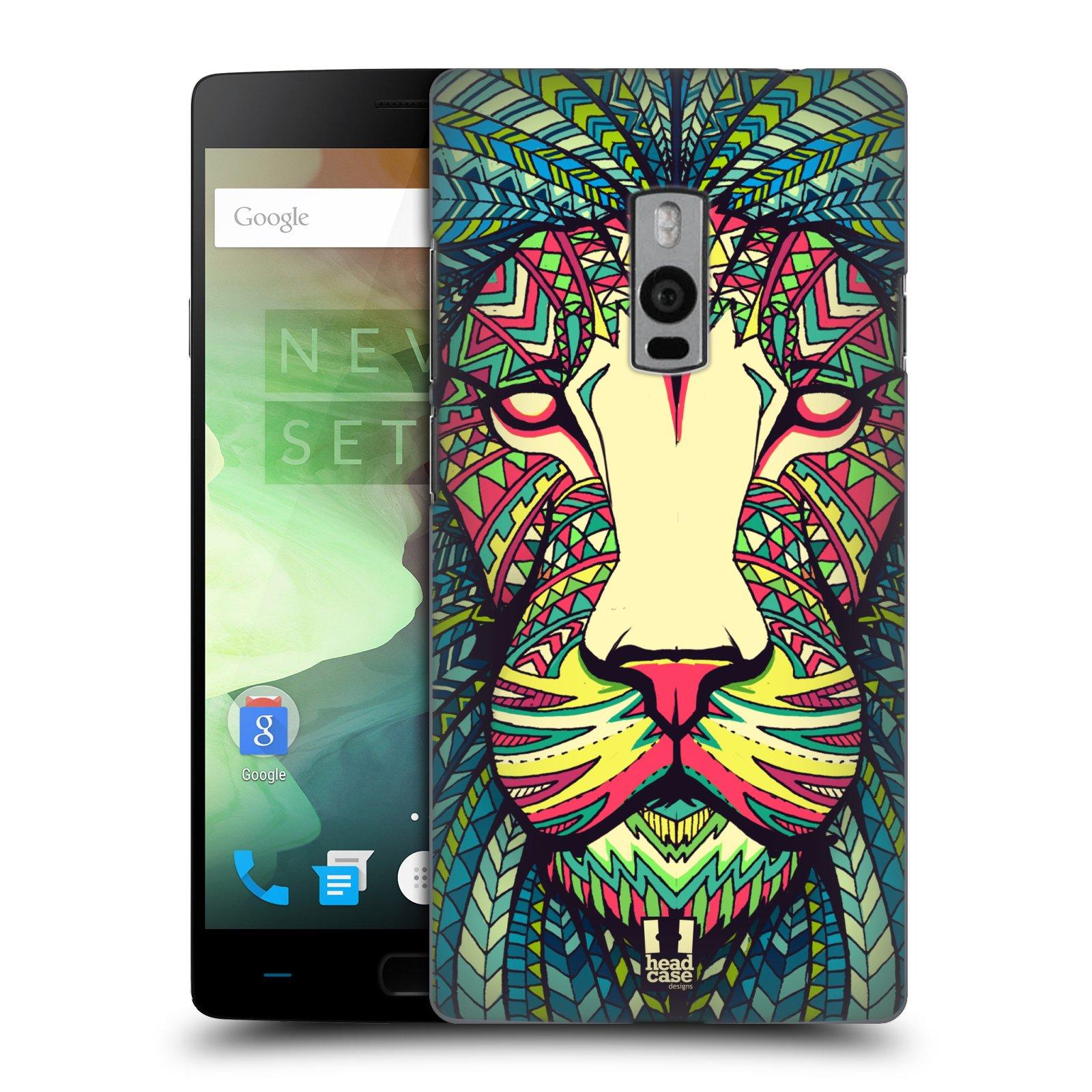 HEAD CASE pevný plastový obal na mobil OnePlus 2  ( TWO ) vzor Aztécký motiv zvíře lev