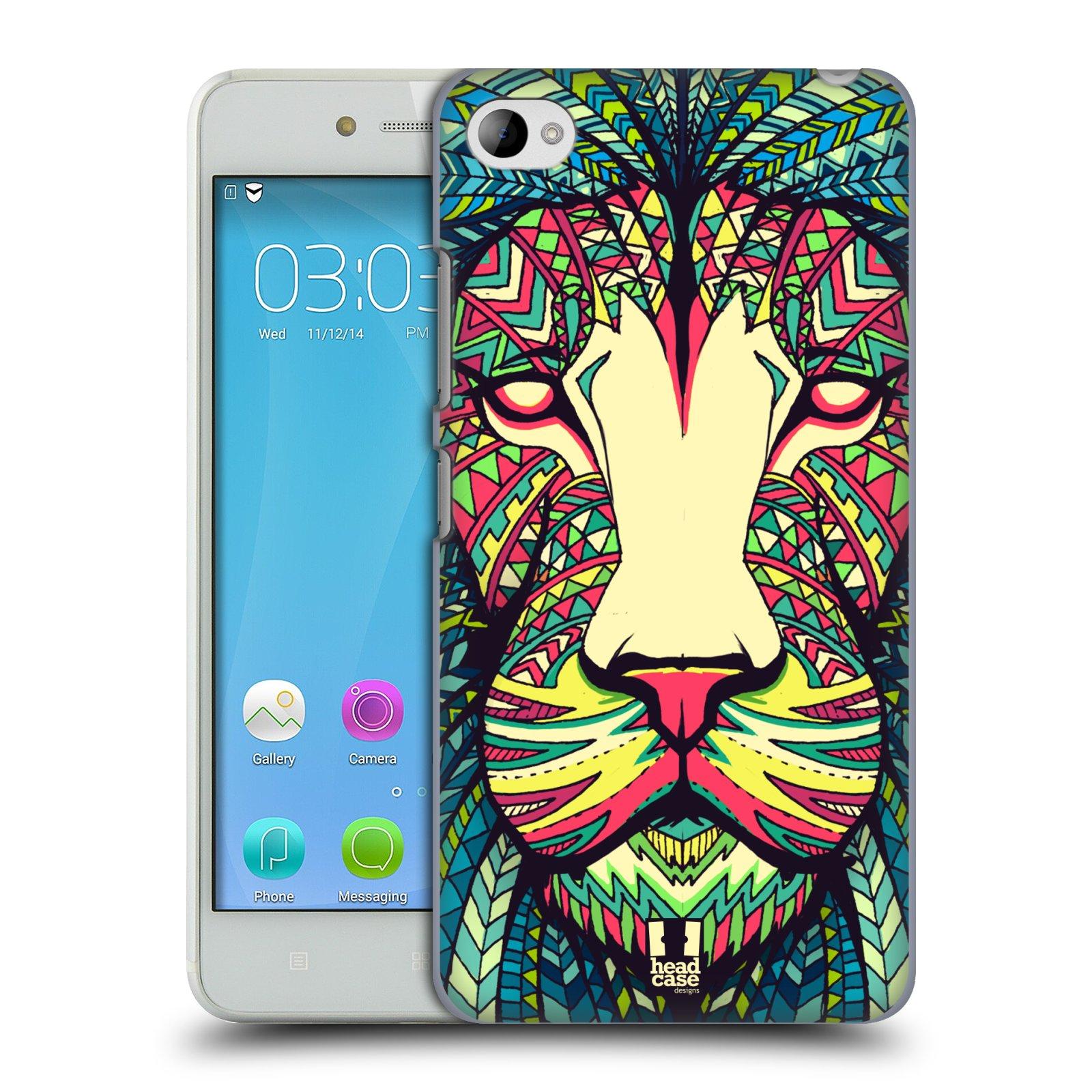 HEAD CASE pevný plastový obal na mobil LENOVO S90 vzor Aztécký motiv zvíře lev