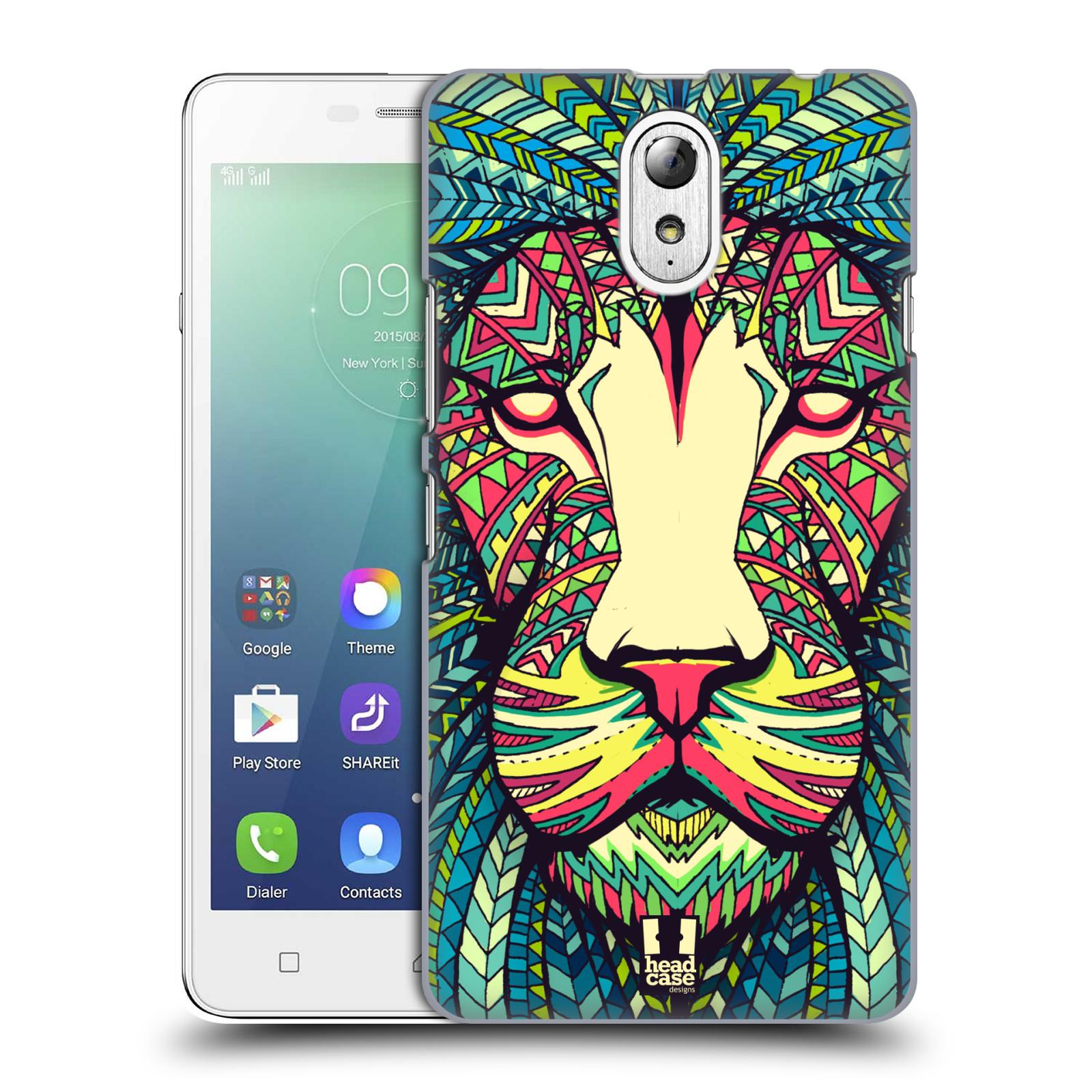 HEAD CASE pevný plastový obal na mobil LENOVO VIBE P1m / LENOVO VIBE p1m DUAL SIM vzor Aztécký motiv zvíře lev