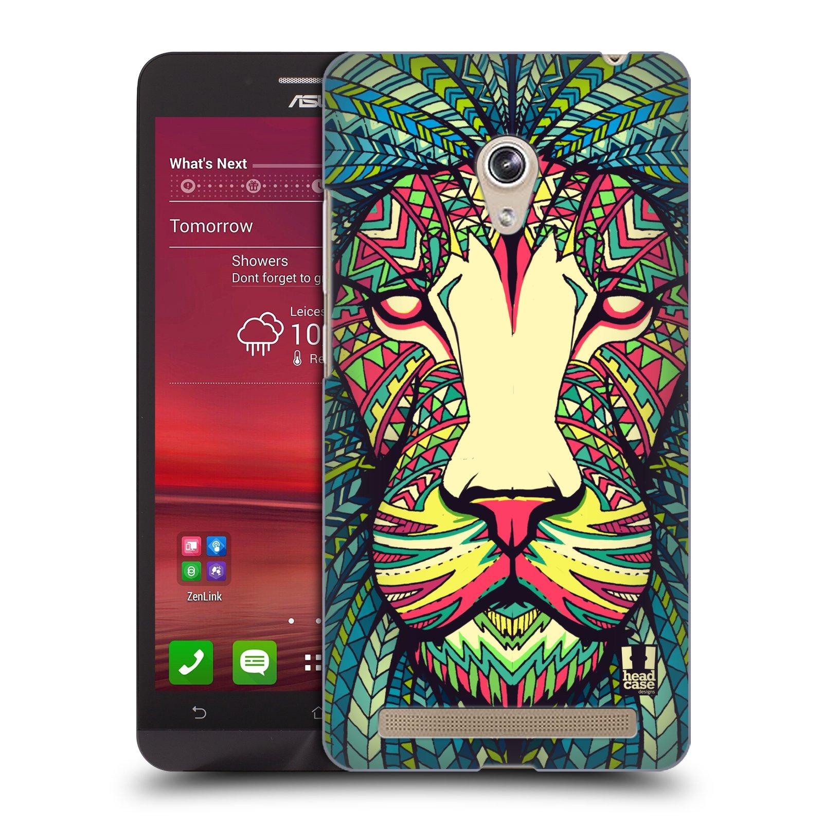 HEAD CASE plastový obal na mobil Asus Zenfone 6 vzor Aztécký motiv zvíře lev