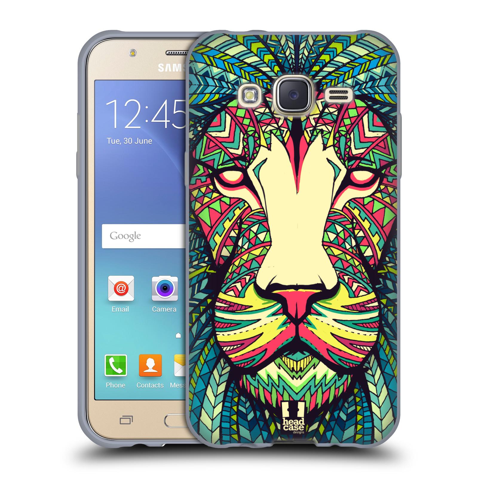 HEAD CASE silikonový obal na mobil Samsung Galaxy J5, J500, (J5 DUOS) vzor Aztécký motiv zvíře lev