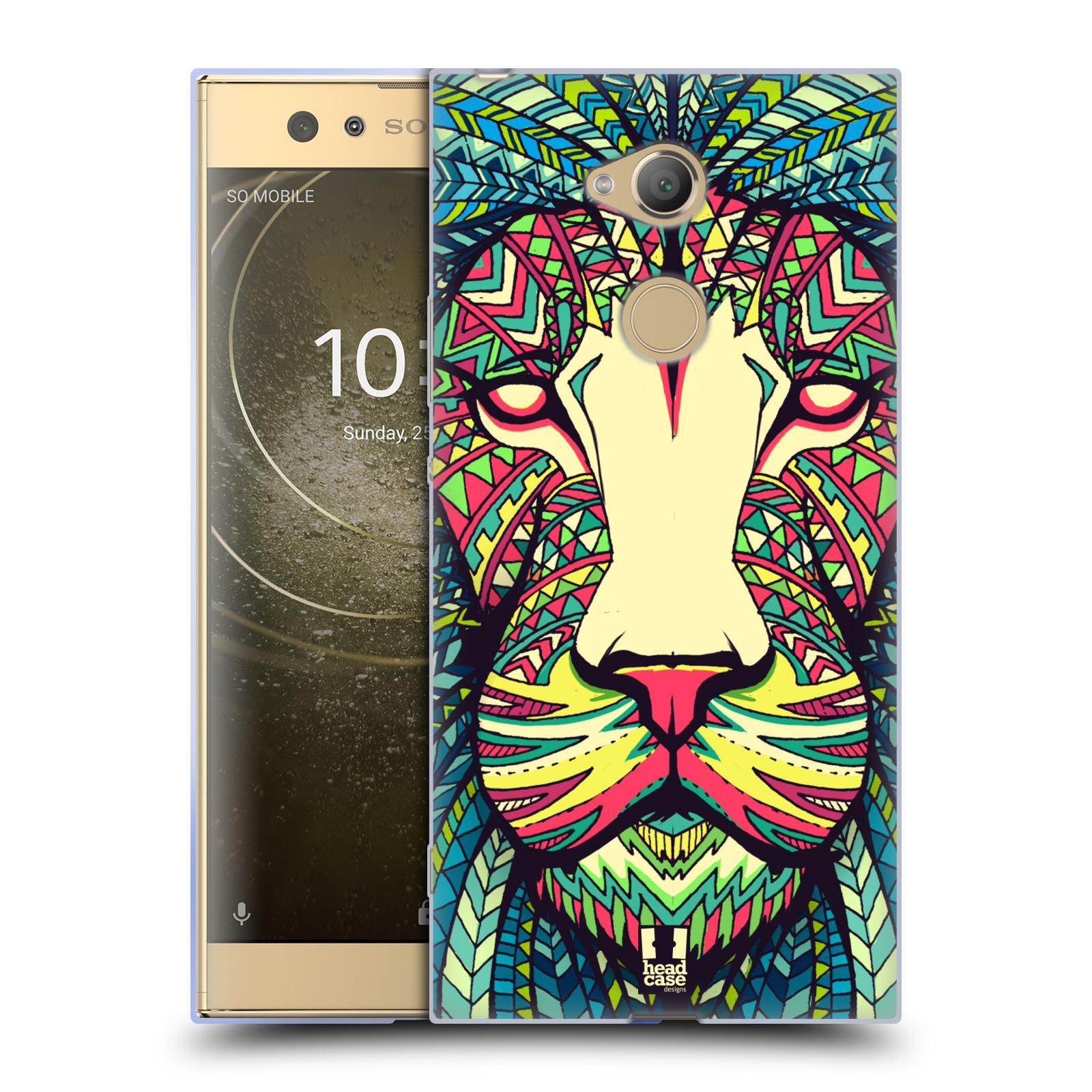 Pouzdro na mobil Sony Xperia XA2 Ultra vzor Aztécký motiv zvíře lev