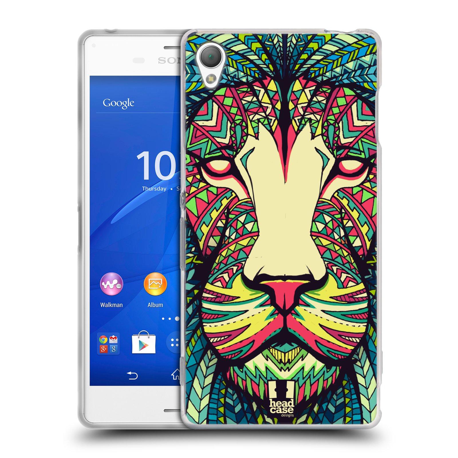 HEAD CASE silikonový obal na mobil Sony Xperia Z3 vzor Aztécký motiv zvíře lev