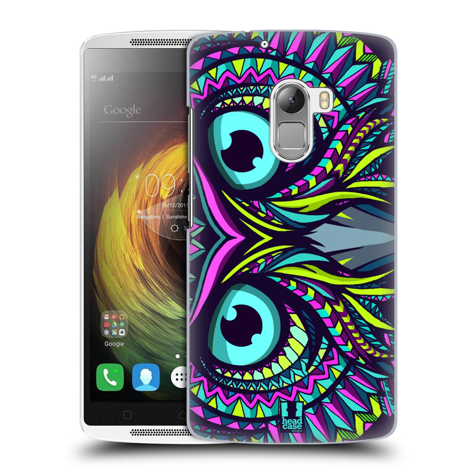 HEAD CASE pevný plastový obal na mobil LENOVO A7010 / A7010 DUAL / K4 Note / Vibe X3 lite vzor Aztécký motiv zvíře sova