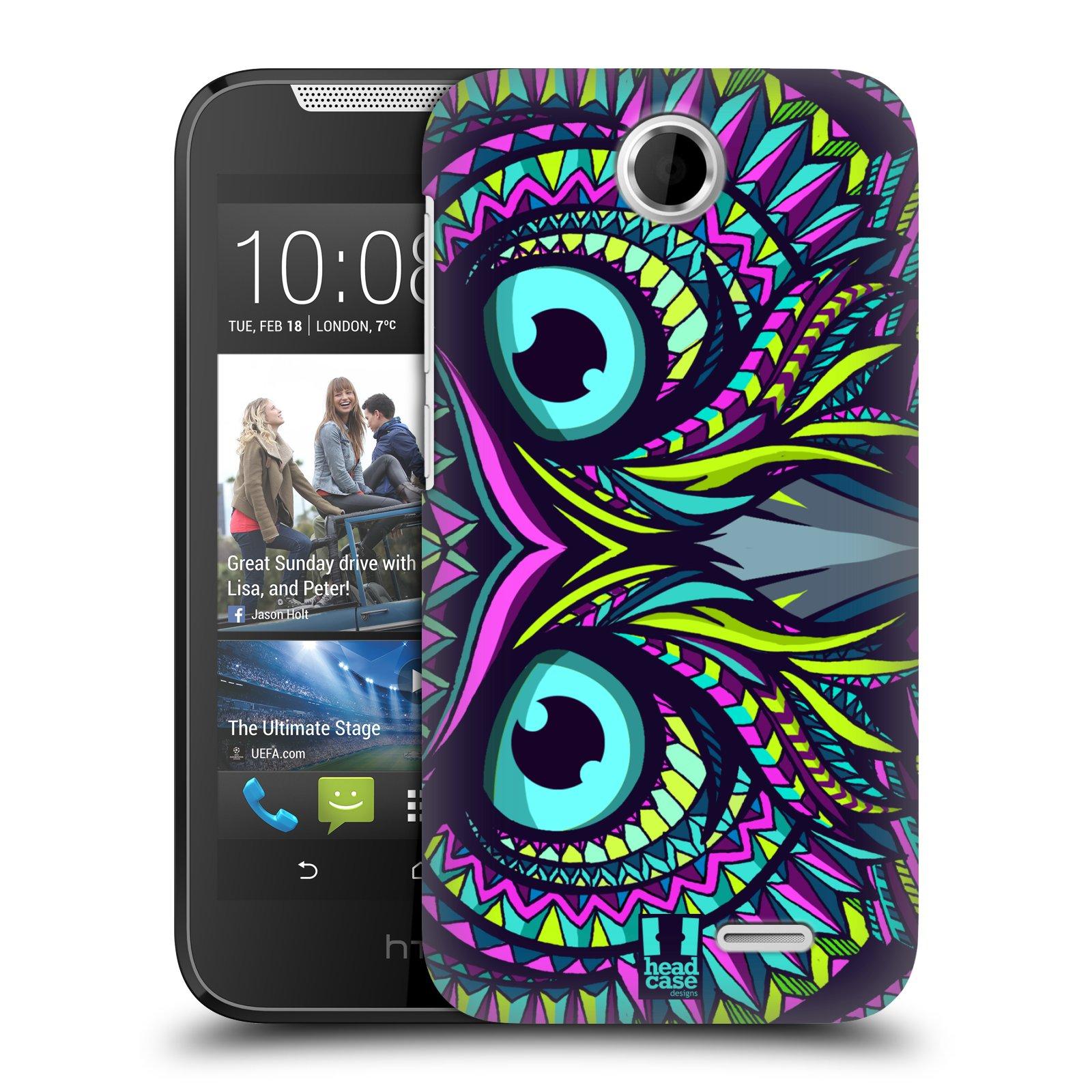 HEAD CASE plastový obal na mobil HTC Desire 310 vzor Aztécký motiv zvíře sova