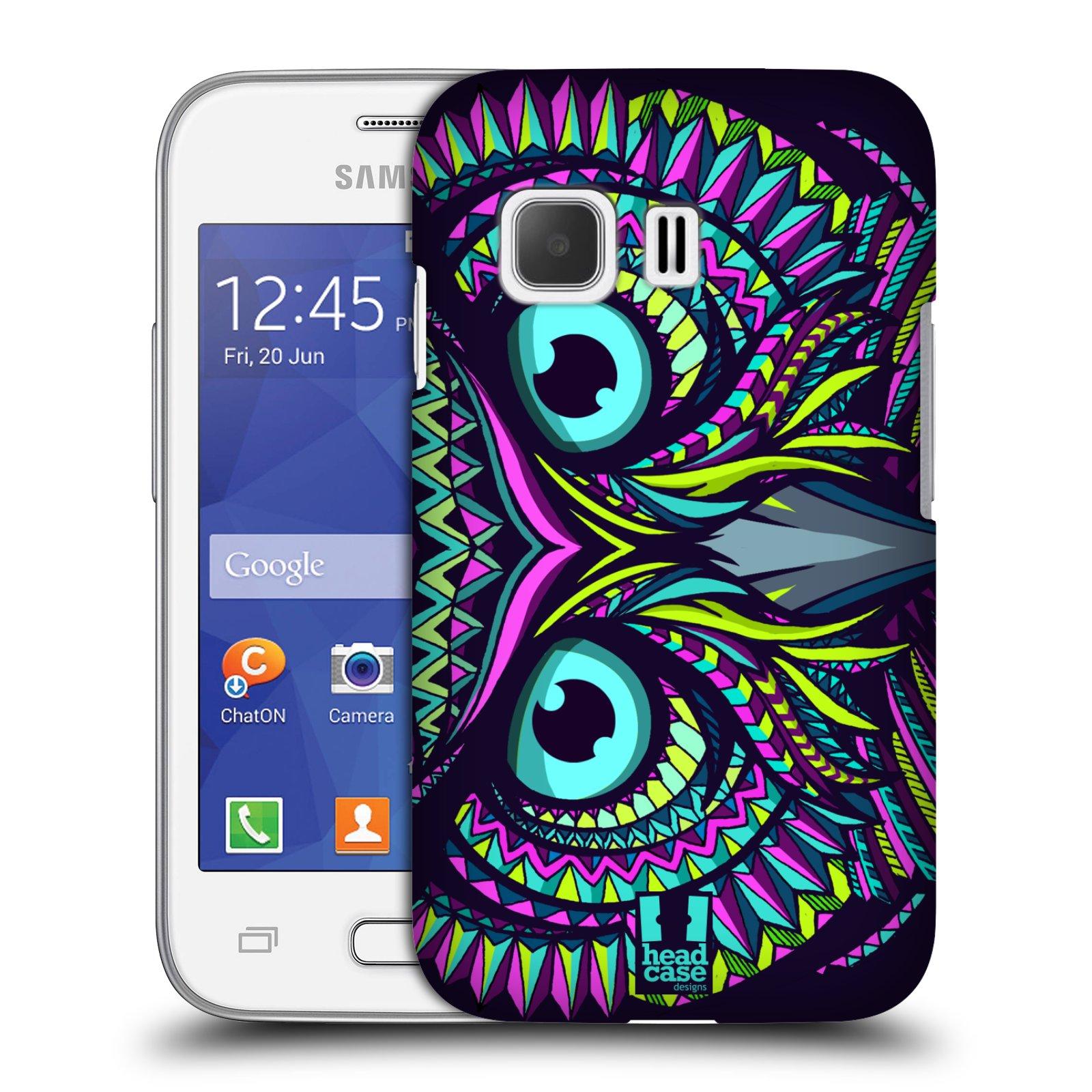 HEAD CASE plastový obal na mobil SAMSUNG Galaxy Young 2 (G130) vzor Aztécký motiv zvíře sova