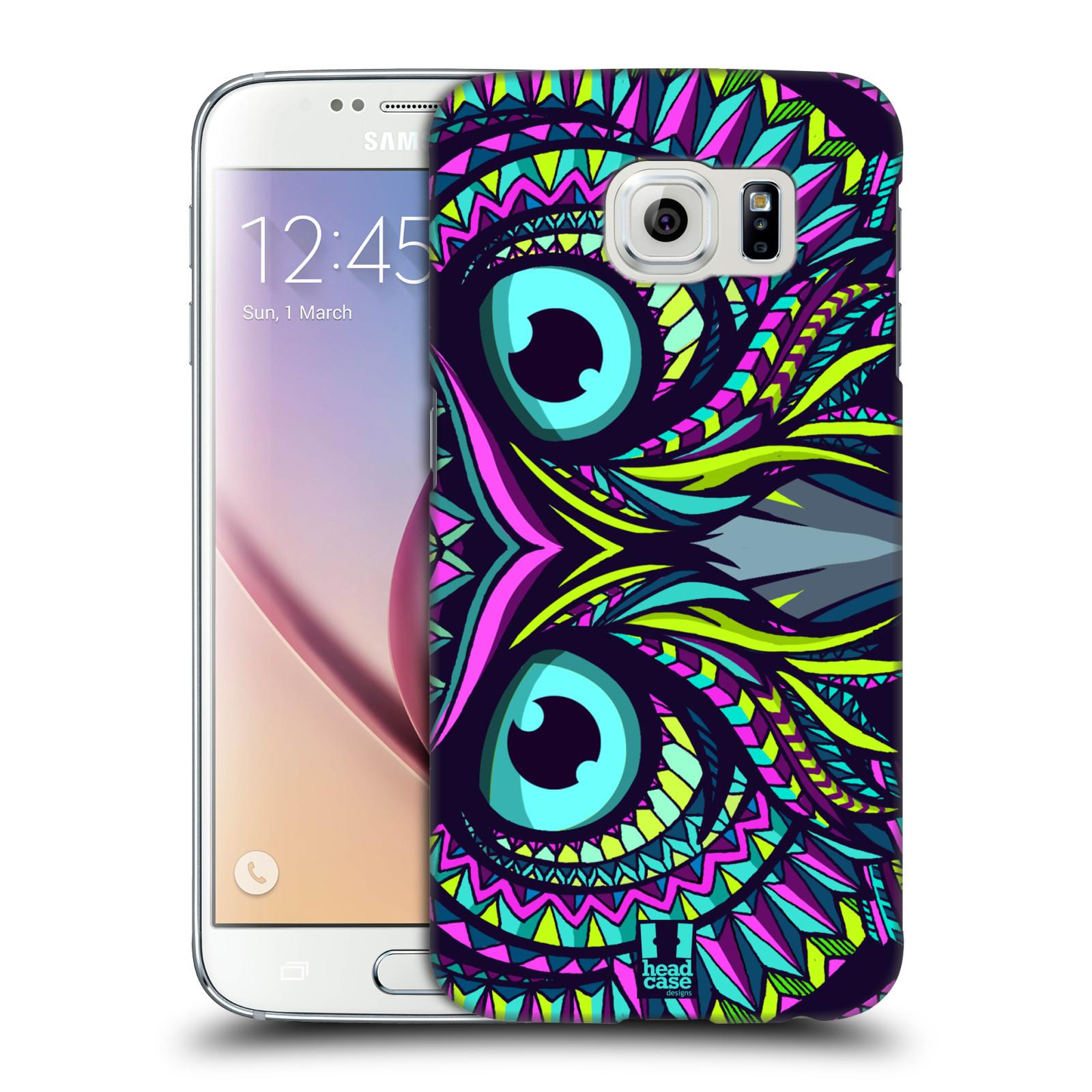 HEAD CASE plastový obal na mobil SAMSUNG Galaxy S6 (G9200, G920F) vzor Aztécký motiv zvíře sova