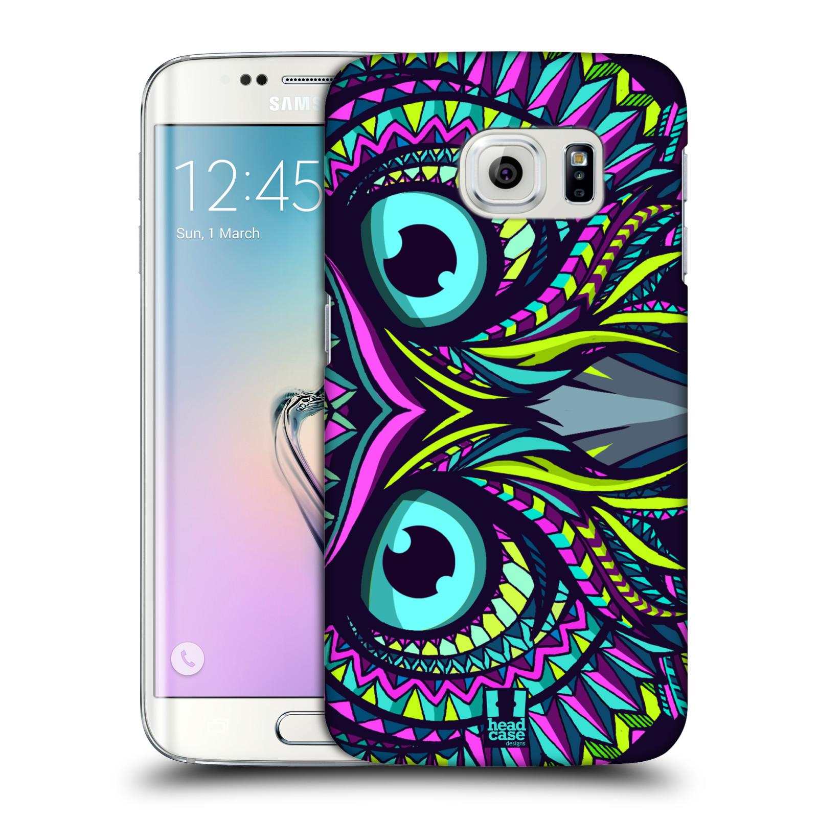 HEAD CASE plastový obal na mobil SAMSUNG Galaxy S6 EDGE (G9250, G925, G925F) vzor Aztécký motiv zvíře sova