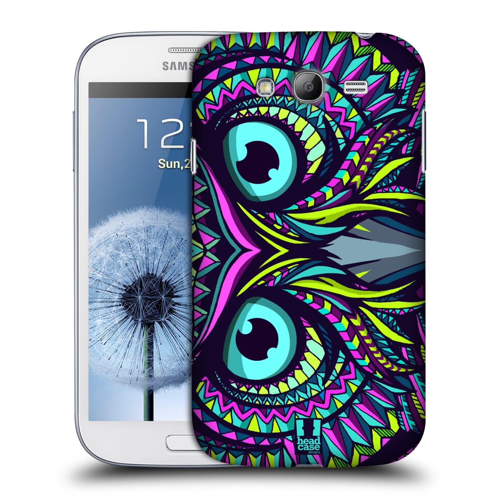HEAD CASE plastový obal na mobil SAMSUNG GALAXY Grand i9080 vzor Aztécký motiv zvíře sova