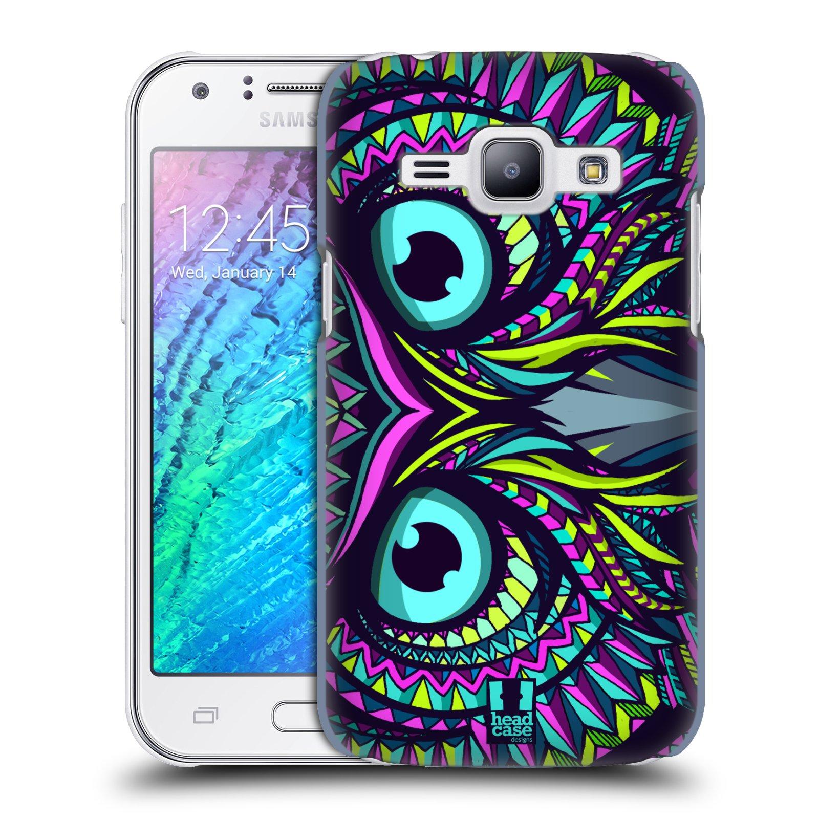 HEAD CASE plastový obal na mobil SAMSUNG Galaxy J1, J100 vzor Aztécký motiv zvíře sova