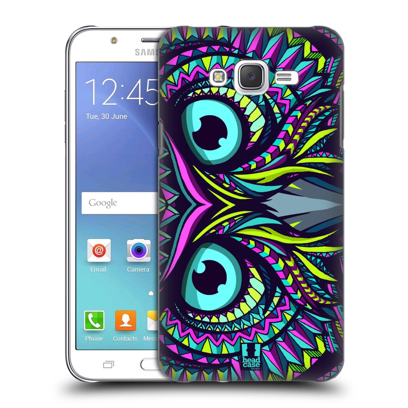 HEAD CASE plastový obal na mobil SAMSUNG Galaxy J7, J700 vzor Aztécký motiv zvíře sova