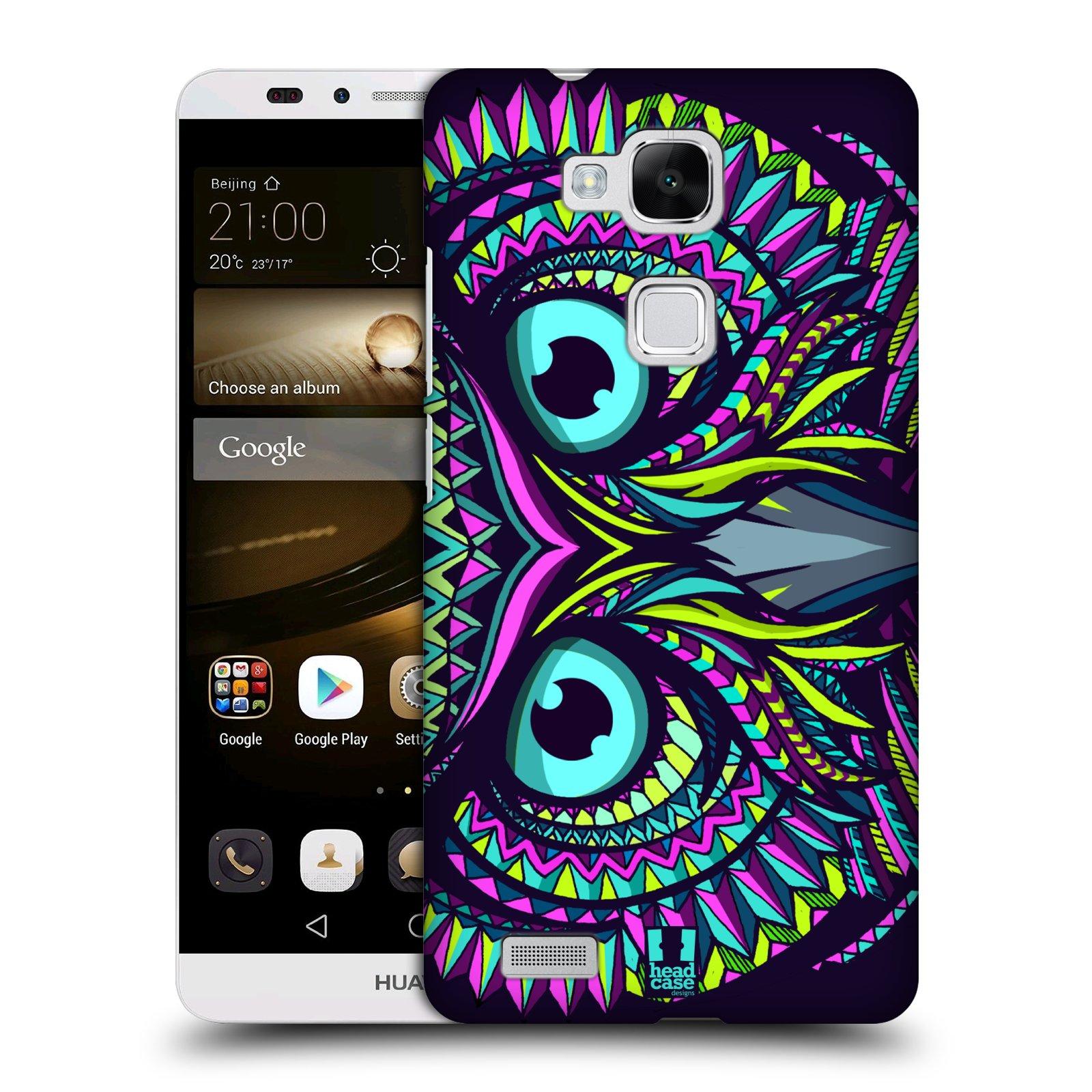 HEAD CASE plastový obal na mobil Huawei Mate 7 vzor Aztécký motiv zvíře sova